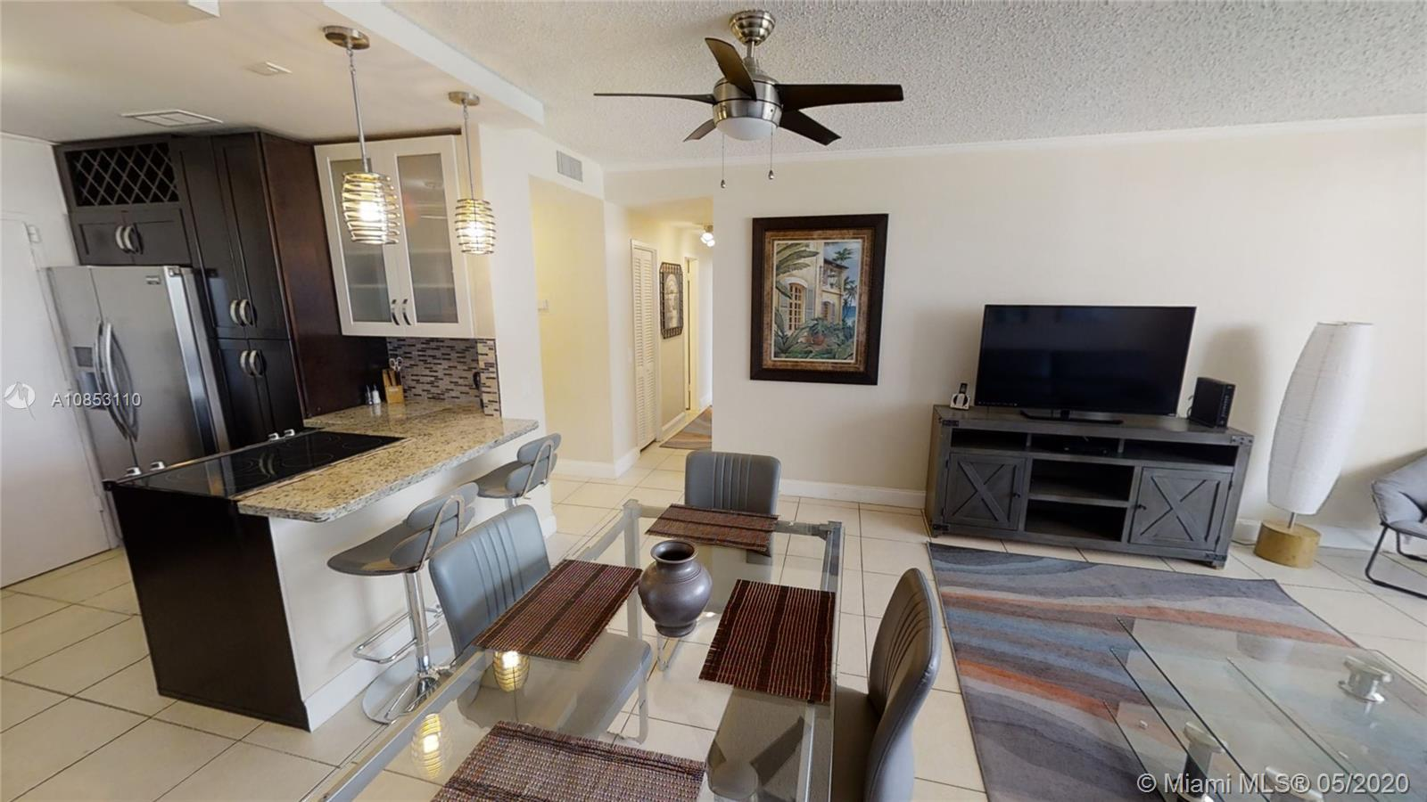 Wonderful Ocean Views, in Hollywood,  fully renovated and freshly painted unit. Rare opportunity won