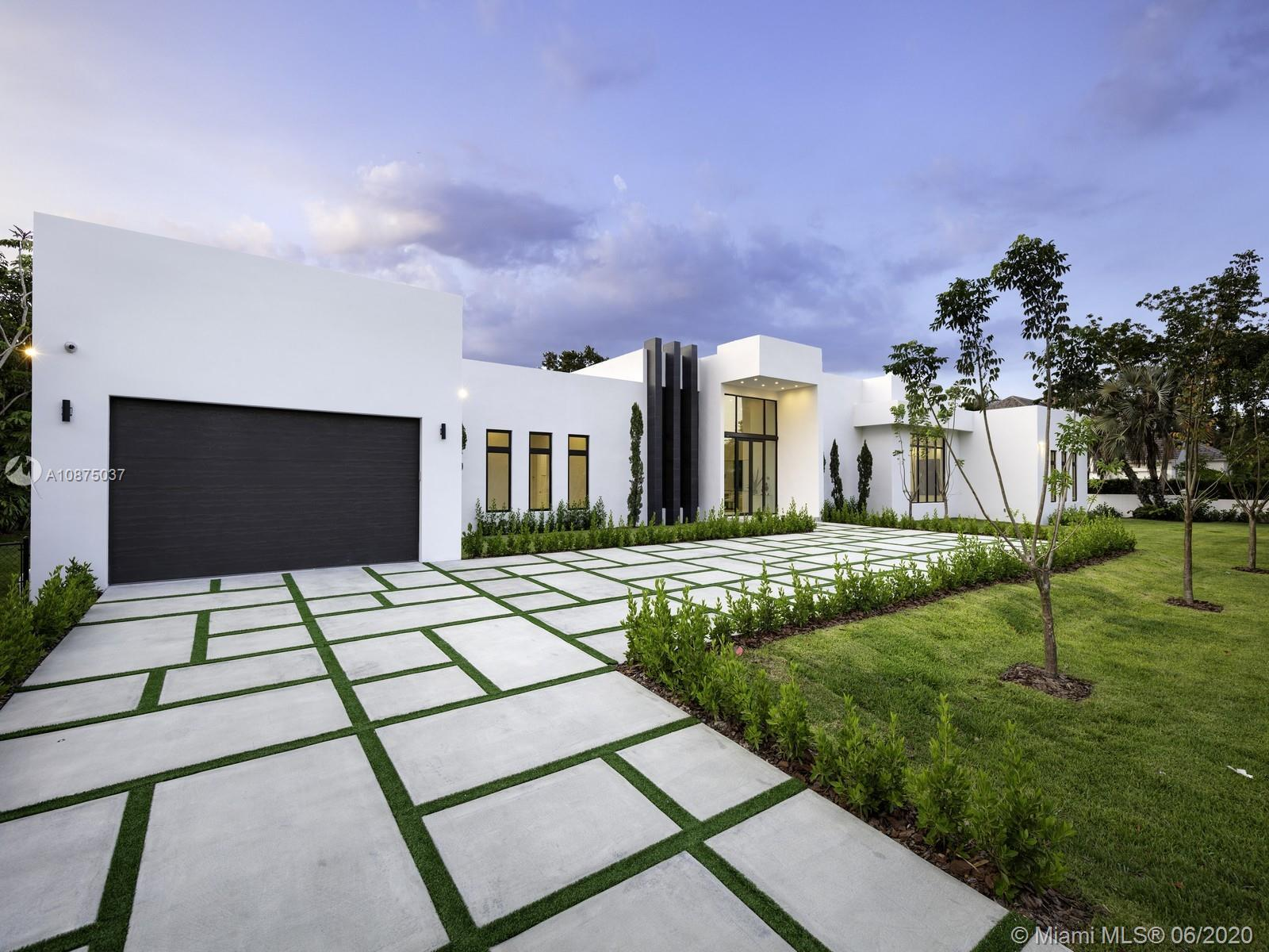 Brand-New One-story Modern Estate built with the finest finishes. Welcomed by enormous windows and d