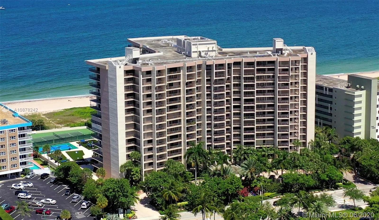 Positioned on the northern end of Lauderdale by the Sea is the exclusive Hampton Beach Club.  Unit 4