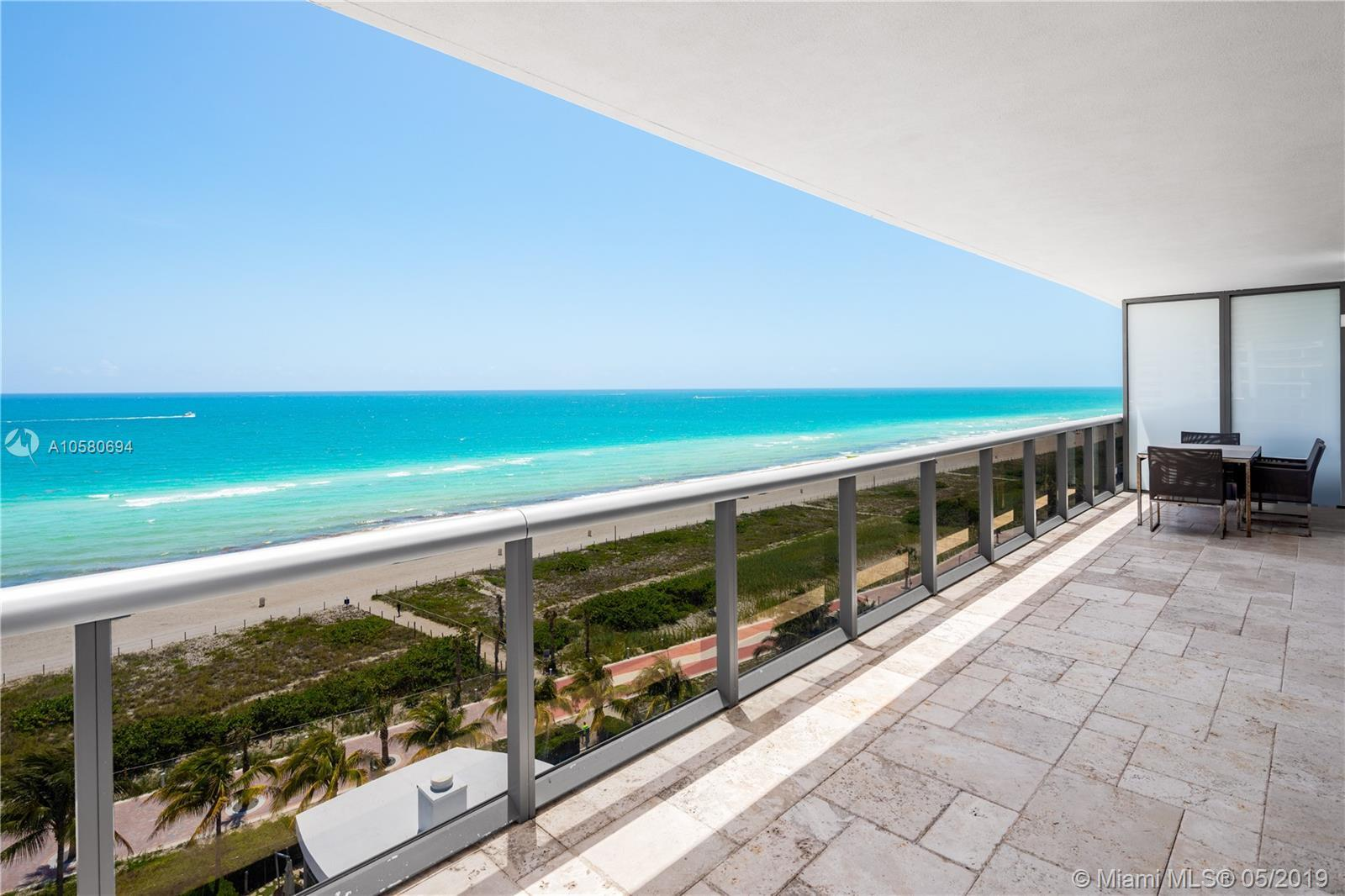 Direct oceanfront, corner unit featuring a 700 SF wrap around balcony with breathtaking views. This