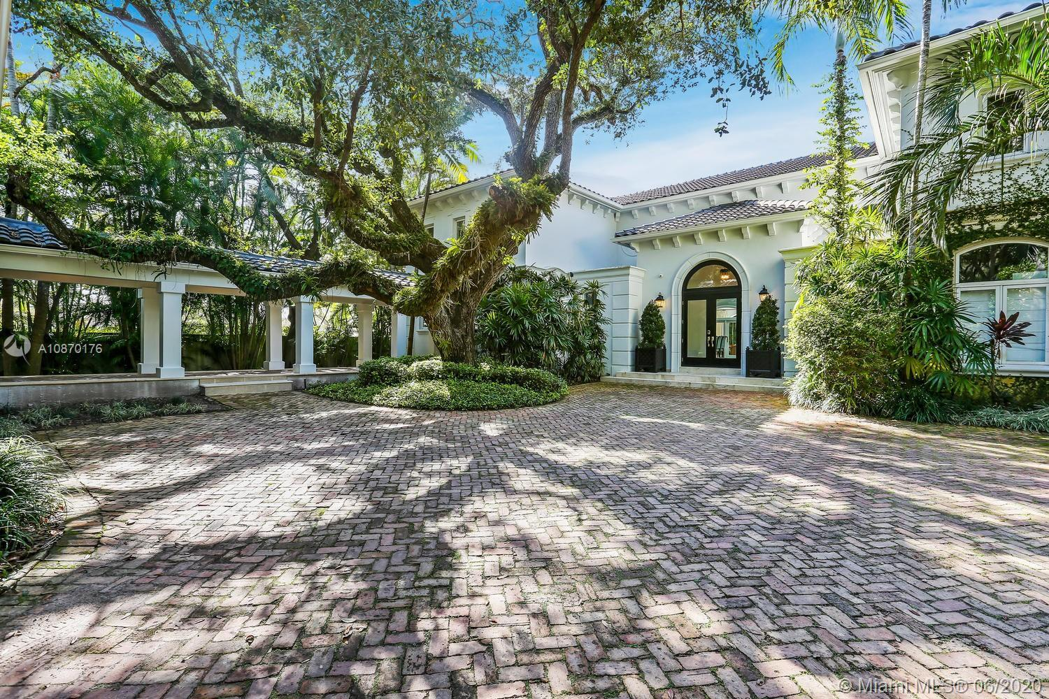 French contemporary, 100% redone, builder acre hidden in Gated Palms Estate on Cul-de-sac. Uniquely