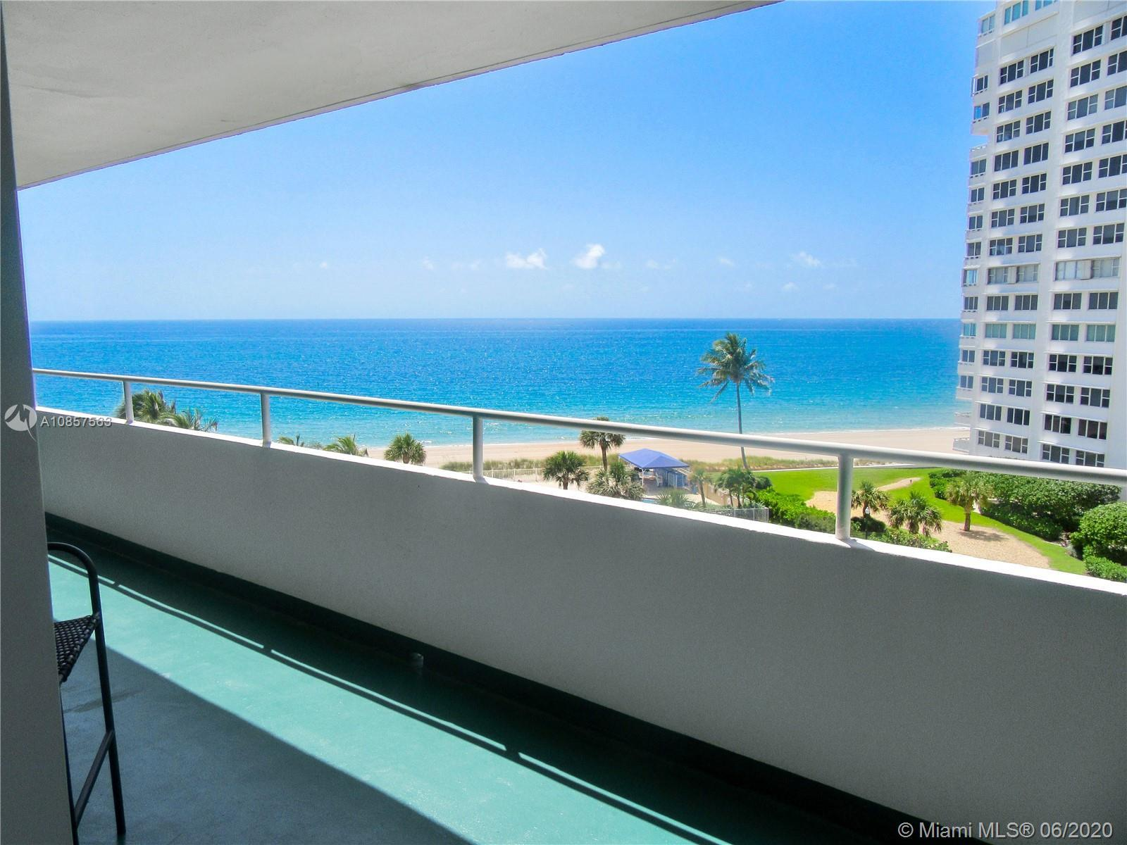 Direct ocean views from your window and balcony, building sits on the sand. High impact glass, new A