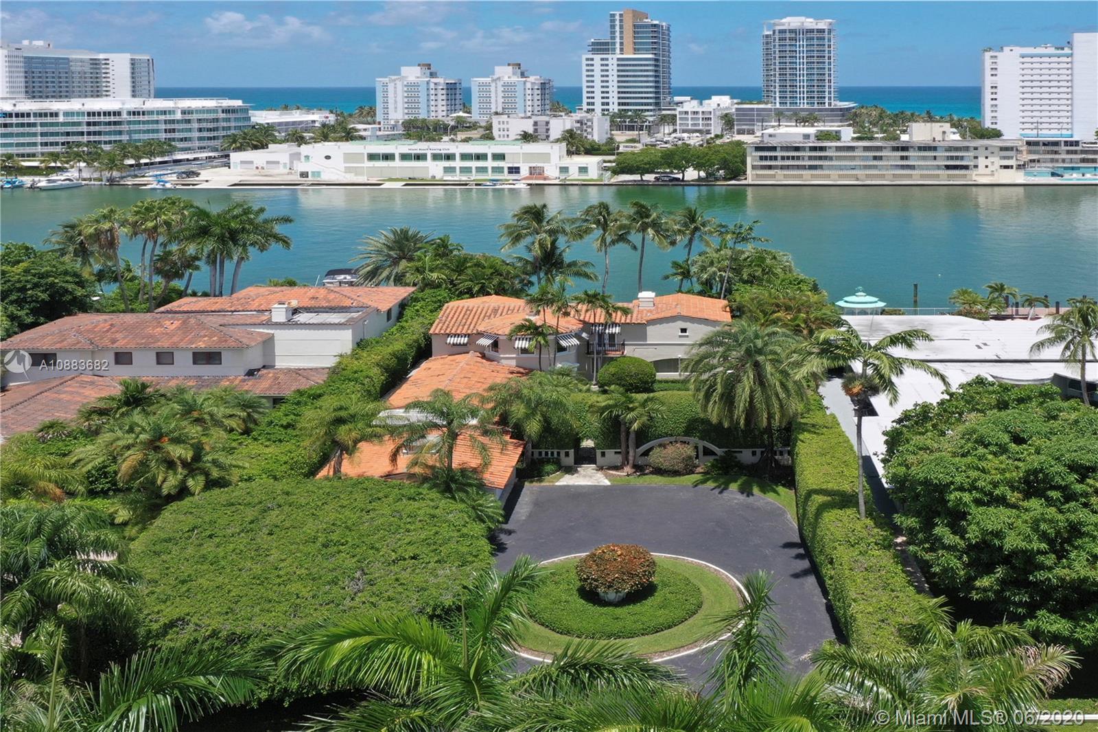 Exclusive Waterfront Estate on Allison Island. Allison Island is a prestigious Guard Gated Miami Bea