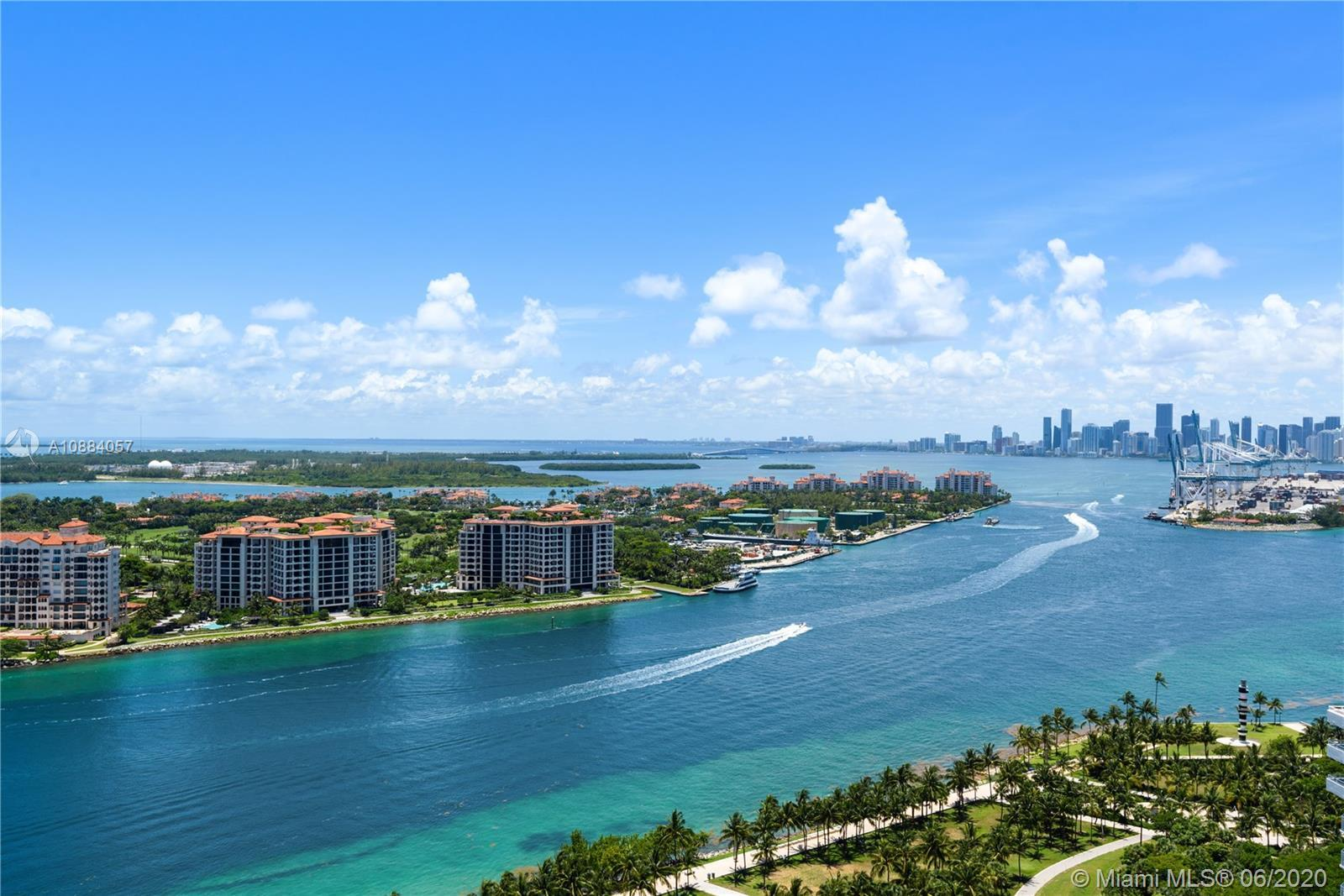 Soaring far above South Beach in world-renowned Continuum, Unit 2701 delivers lifestyle; unparallele