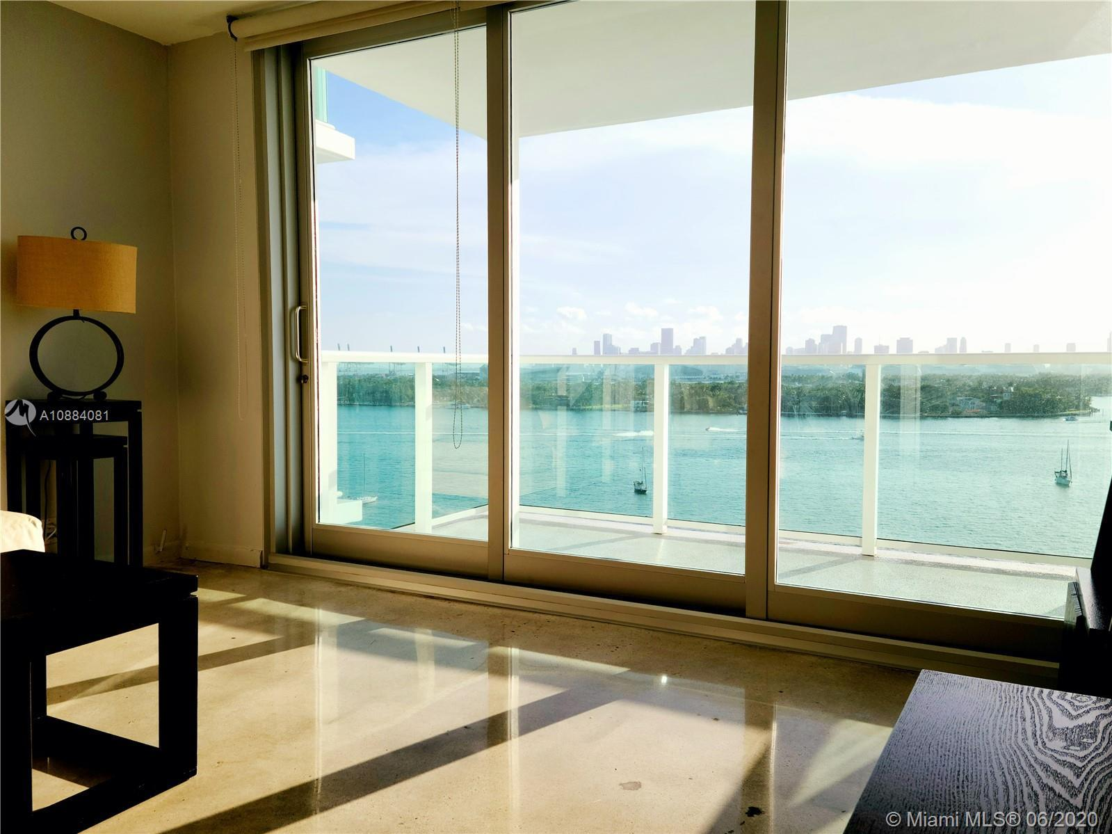 Direct Bay-front 850 sf  one bedroom with unobstructed stunning bay and downtown Miami Views! Priced
