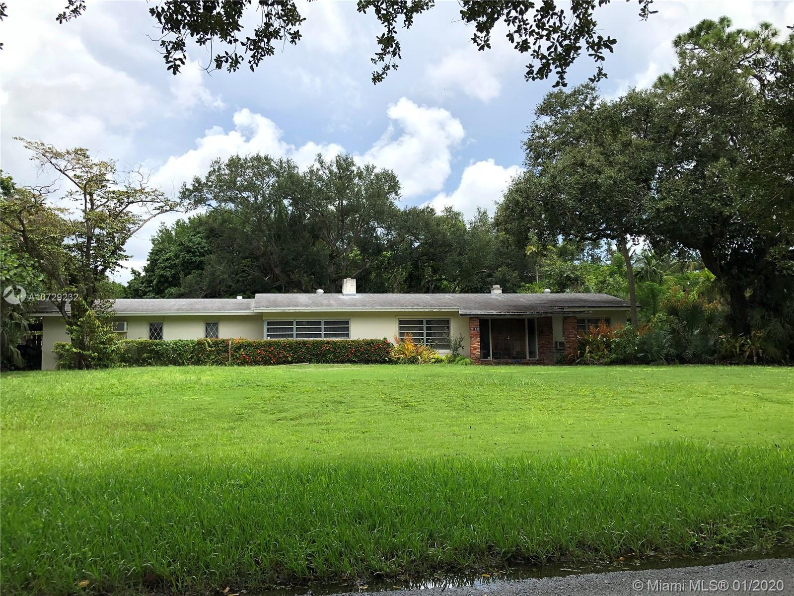 Rare redevelopment opportunity in Prime Pinecrest Location. The Property consists of two EU-1 lots t