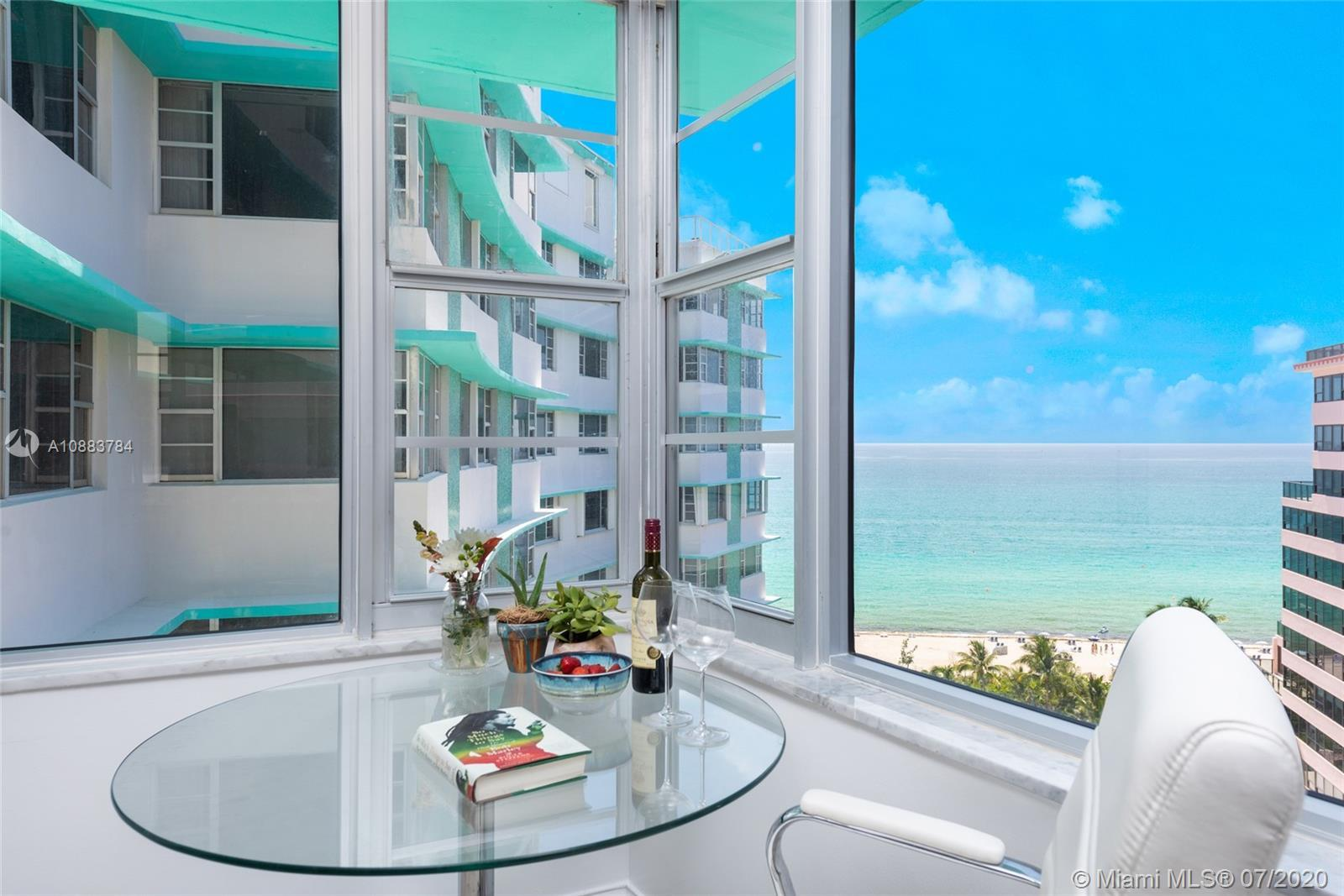 High floor beachfront condo at iconic Imperial House by Morris Lapidus! Stunning ocean views welcome