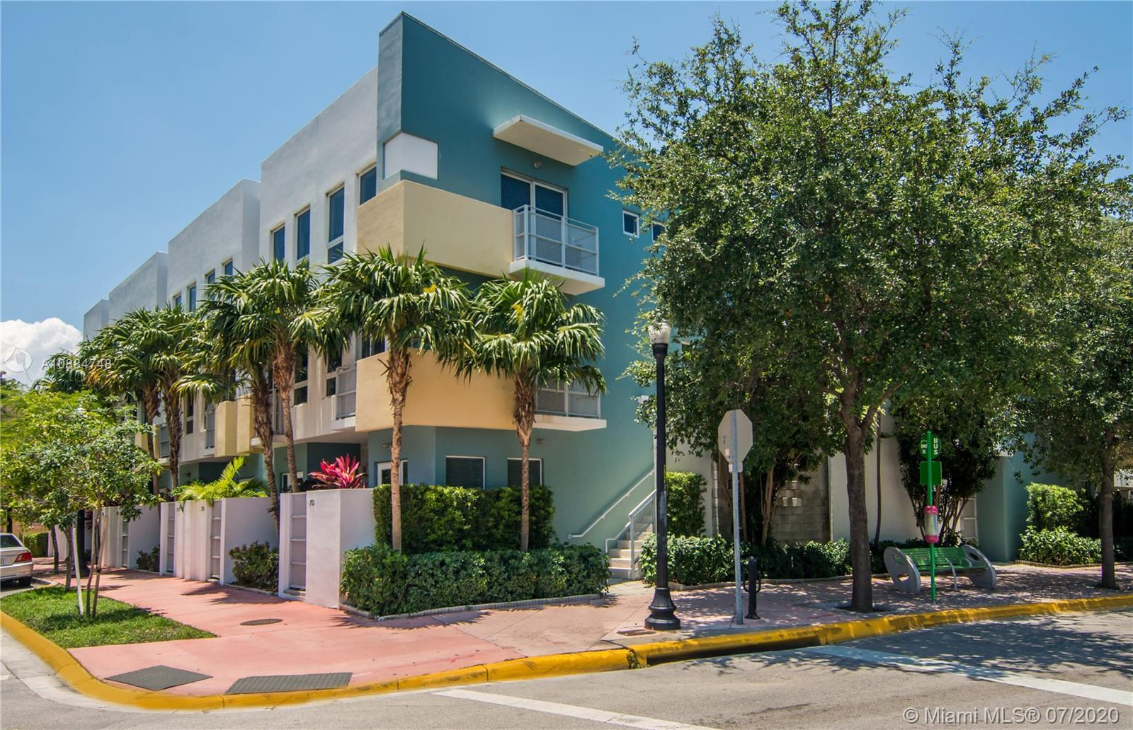 Contemporary 2 bedroom Townhouse South of Fifth. Two blocks from the ocean and all the fun SoBe has