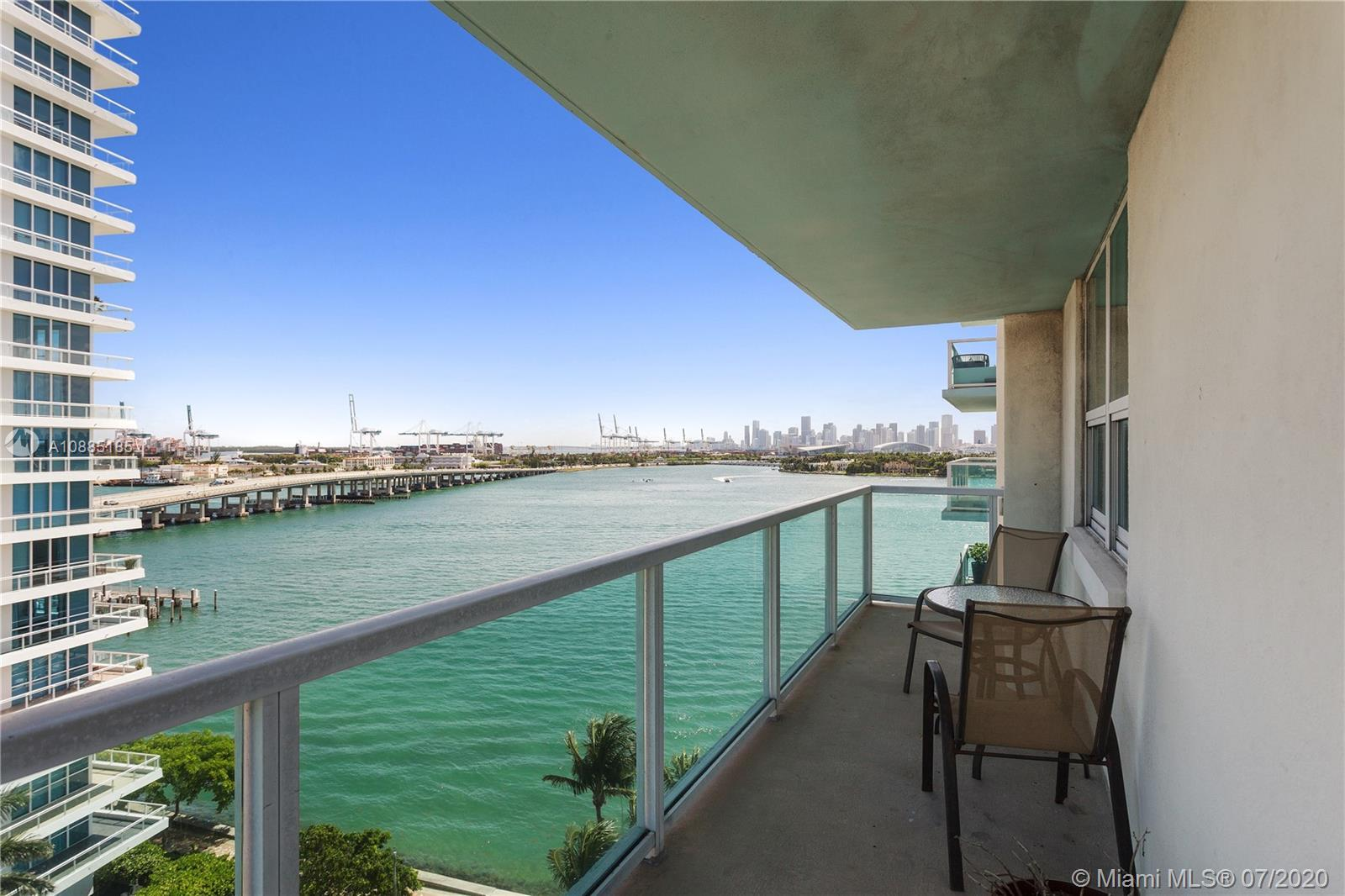 Southwest Facing Two Bed Two Bath Corner unit. Soak in the stunning views of Fisher Island, Star Isl