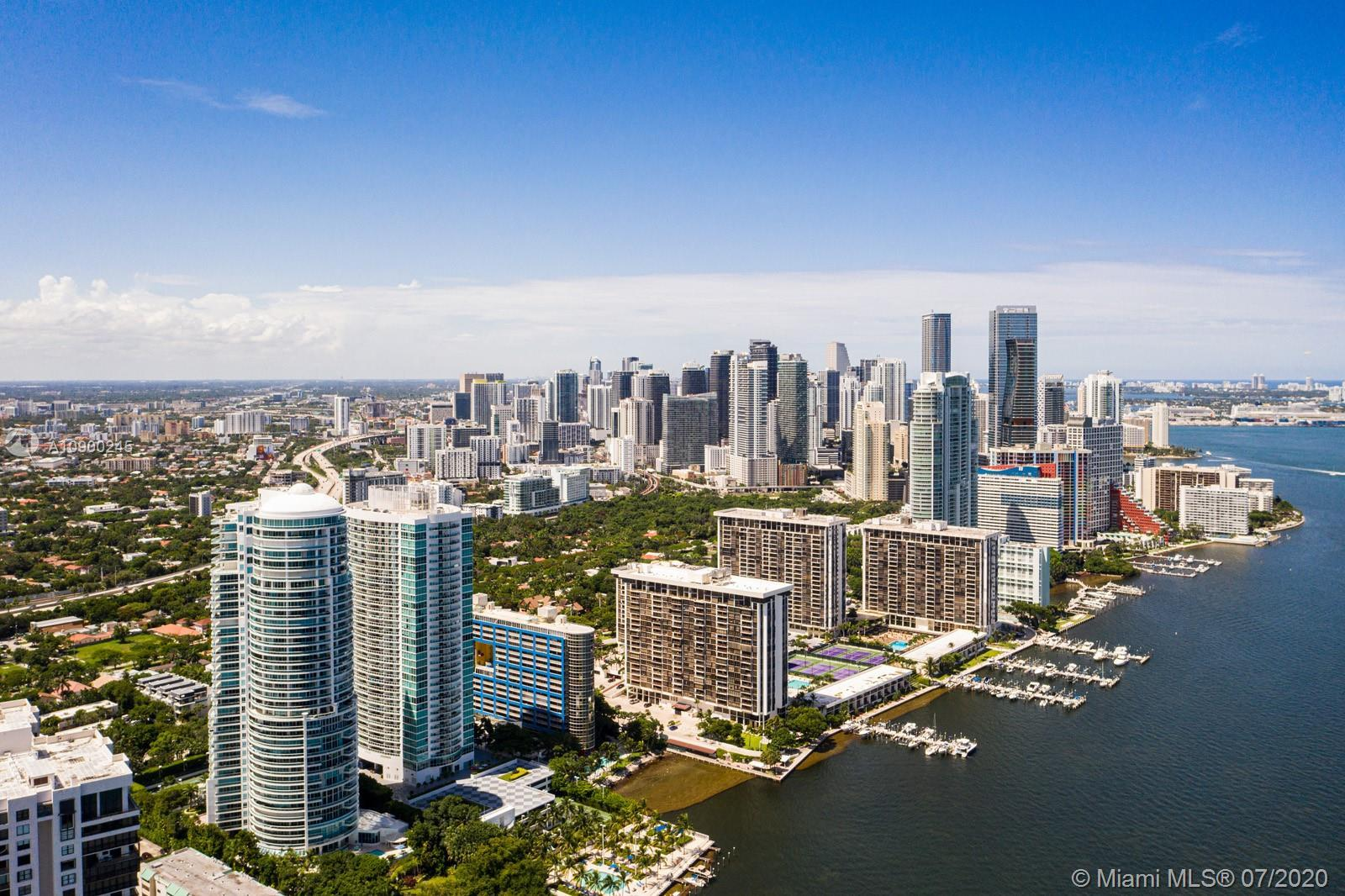 Fall in love with Biscayne Bay and City views from this 02 line at the Bristol Tower.  This bright a