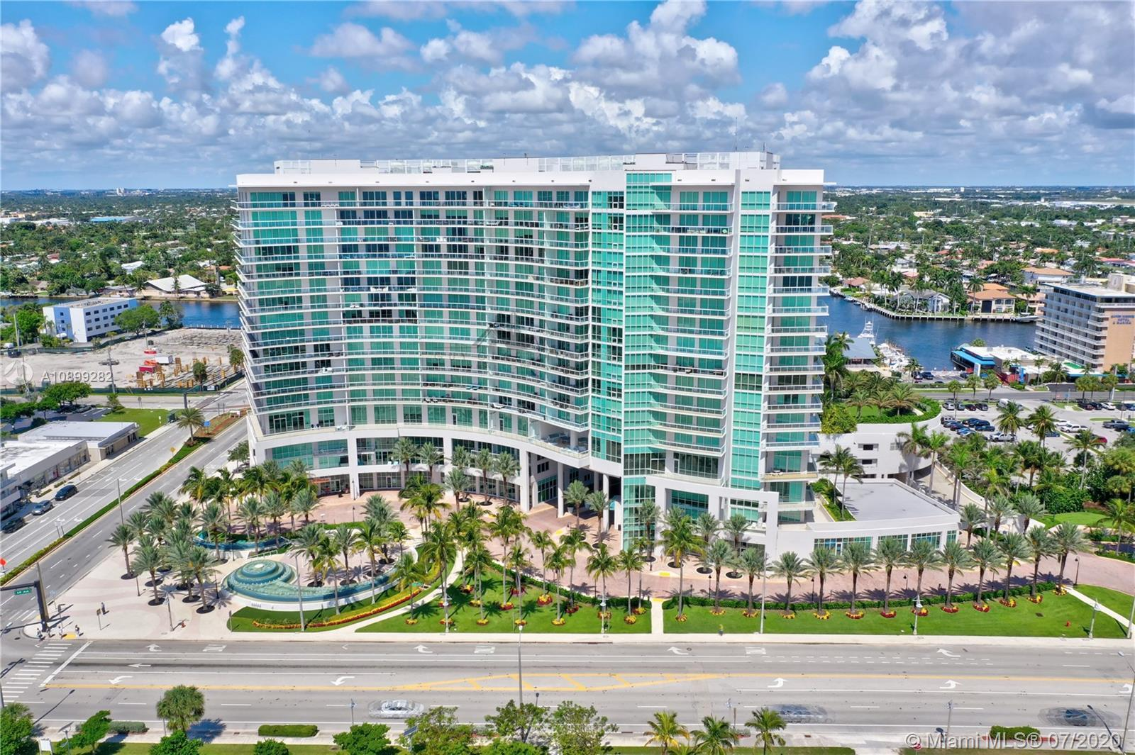 A luxurious condo with stunning Ocean and City views.  This sky residence is offered partially furni
