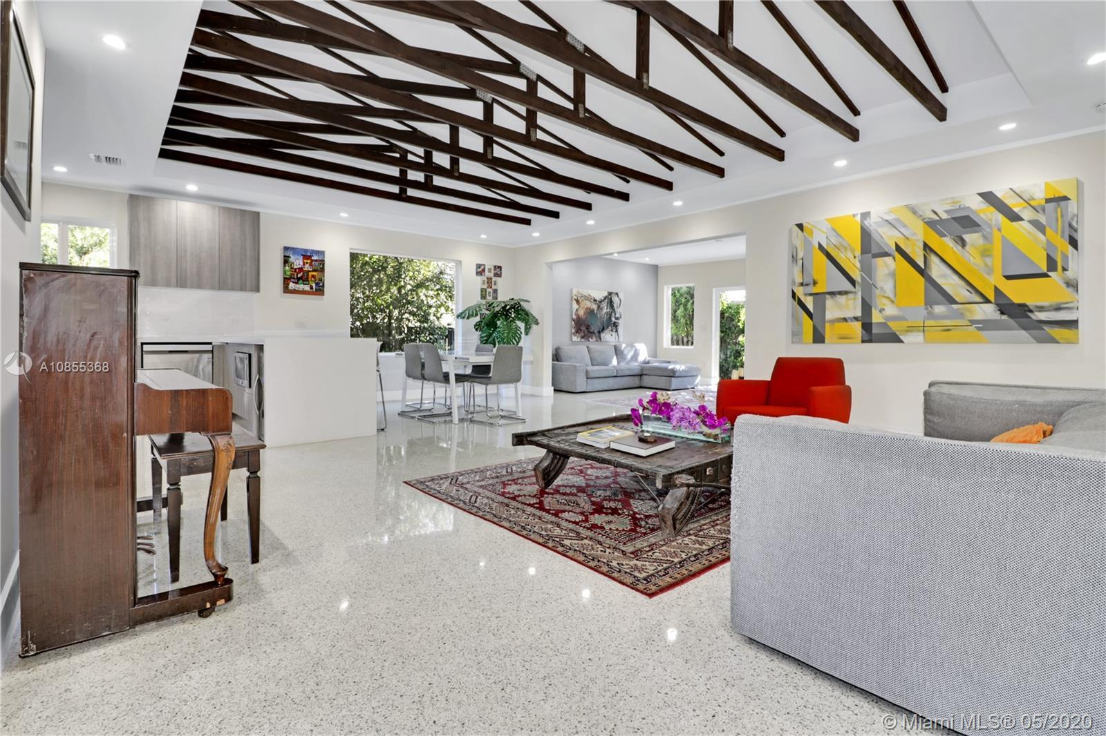 Steps from the beach and shops of Bal Harbour, this 5BR/ 4BA home is truly a must-see. With more tha