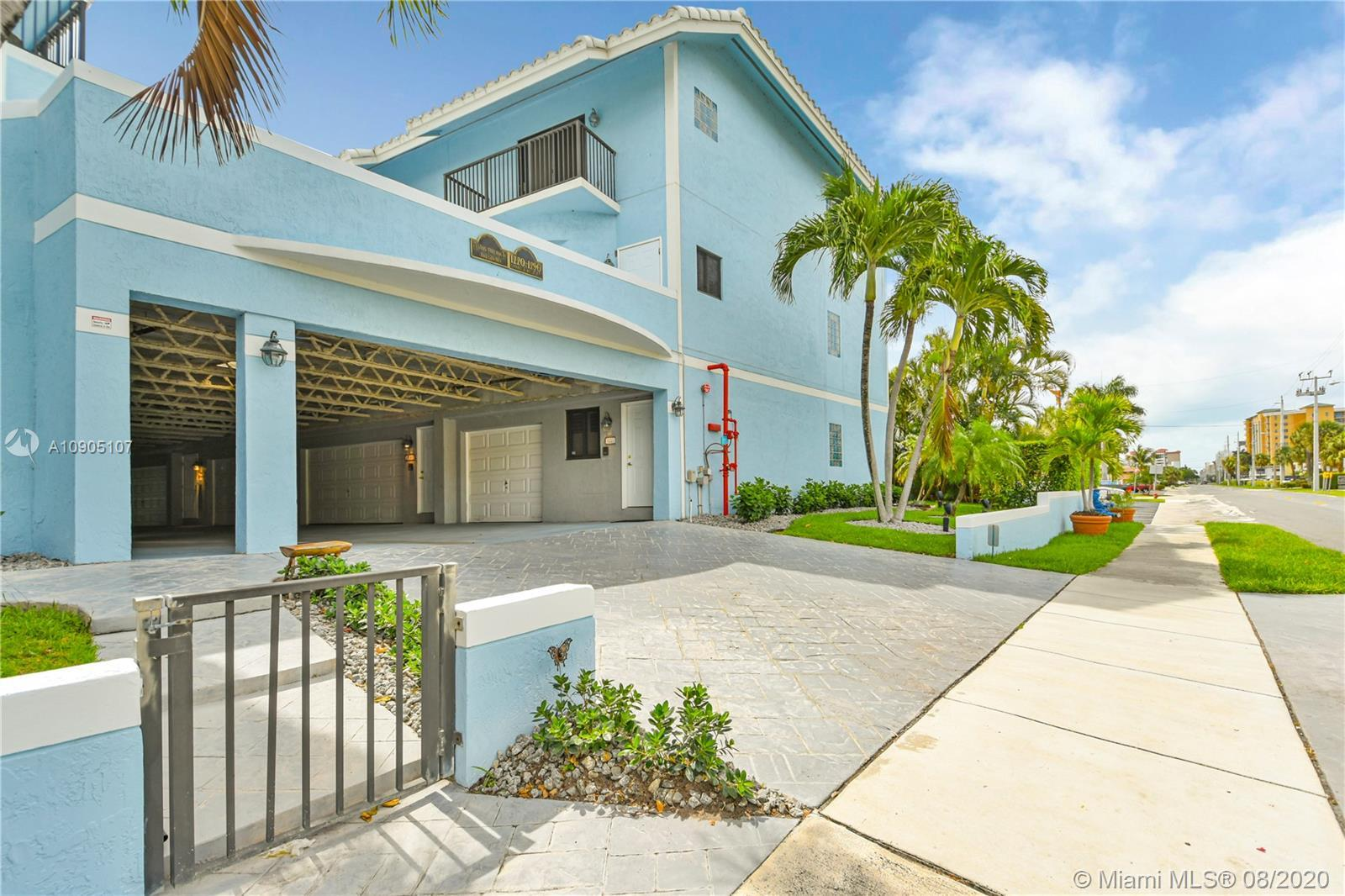 Fabulous tri-level town home with beach and intracoastal views from nearly every window. Large corne