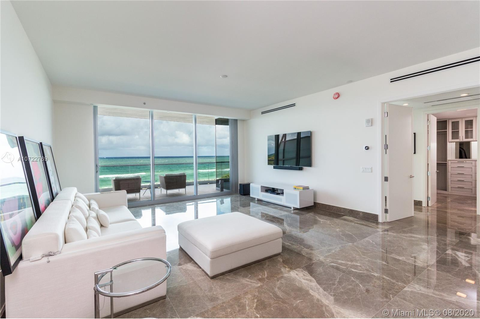 Beautiful direct ocean front condo at Fendi Chateau. This unit is finished and furnished; 3 Bedroom