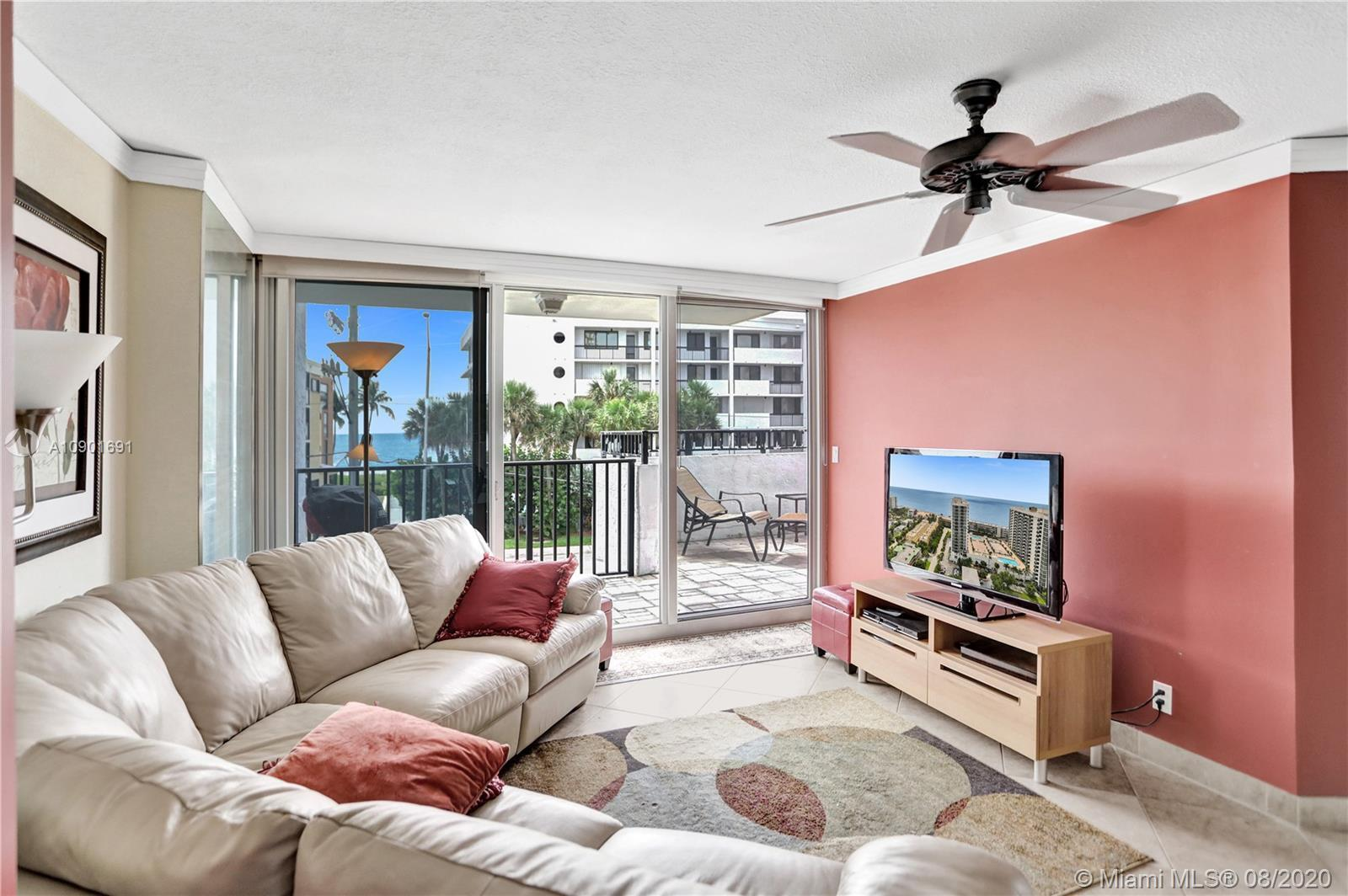 This ONE OF A KIND END UNIT LANAI features: DIRECT ocean views,  DIRECT OUTDOOR ACCESS FROM 5 hurric