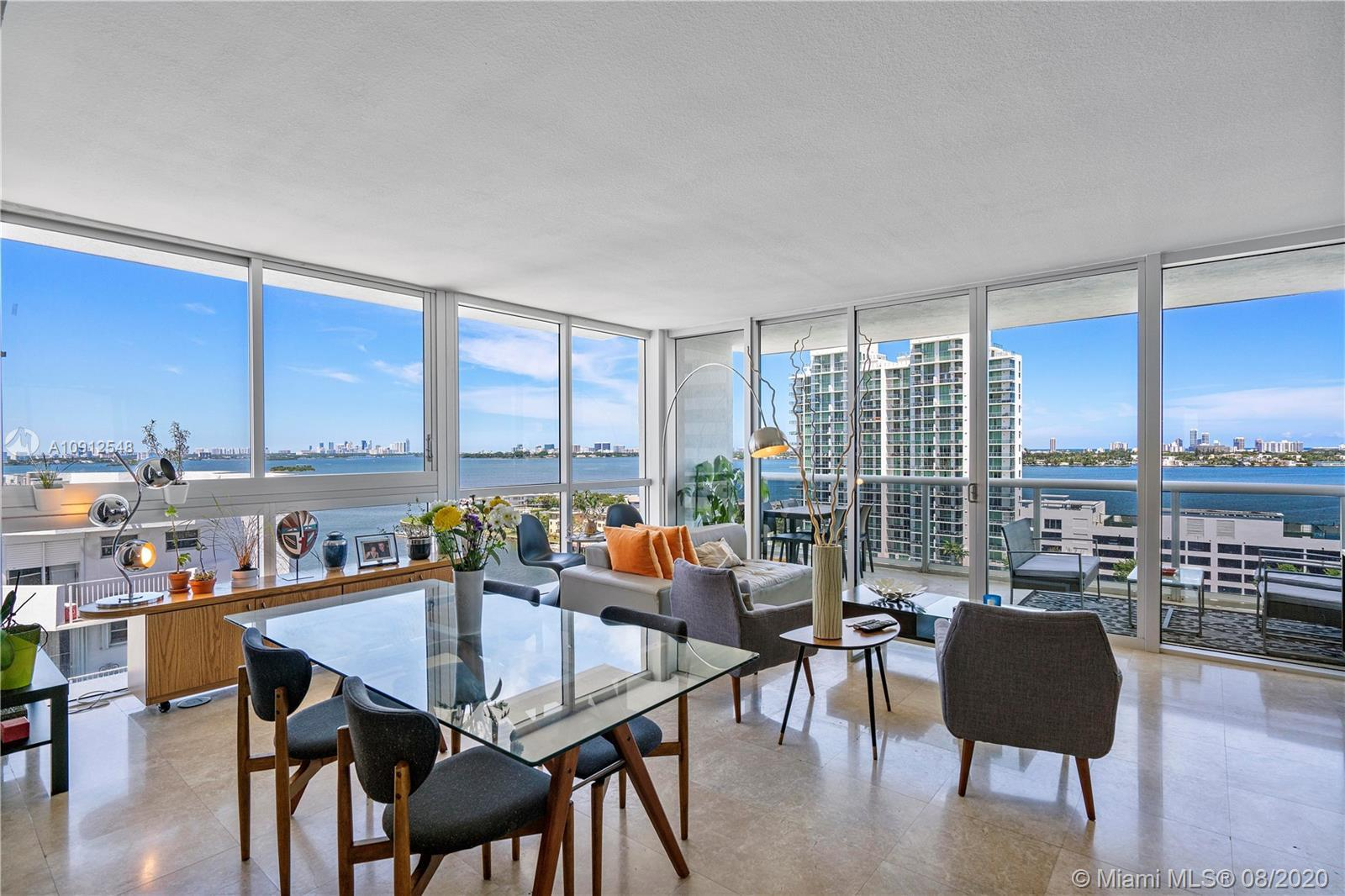 Spectacular apartment with 3 bedroom 2/1 bath  that offers  unobstructed 360 degree bay & downtown s