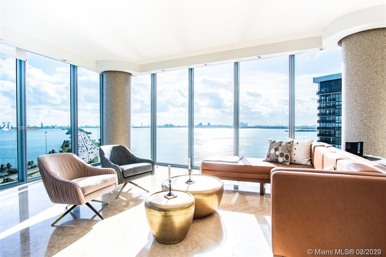 This remarkable corner unit, with a Breathtaking panoramic bay views from every room, have a perfect