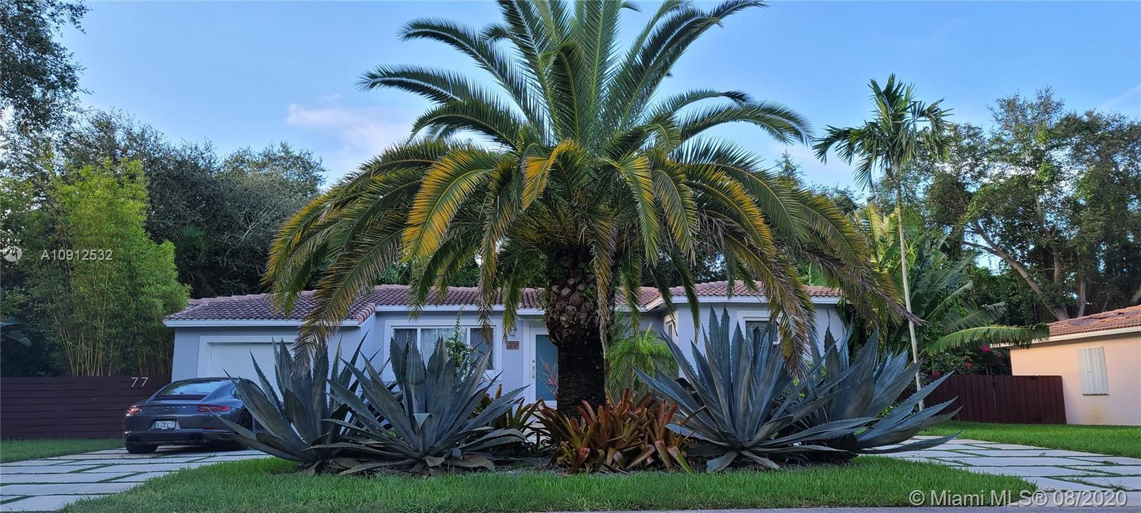 Tastefully updated  3/2 home in the exclusive community of Miami Shores on a DOUBLE lot located on q