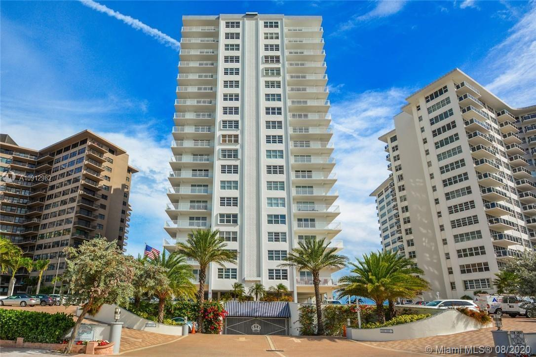 Gorgeous ocean views form this 12th floor north exposure unit in the heart of the Galt Ocean Drive.