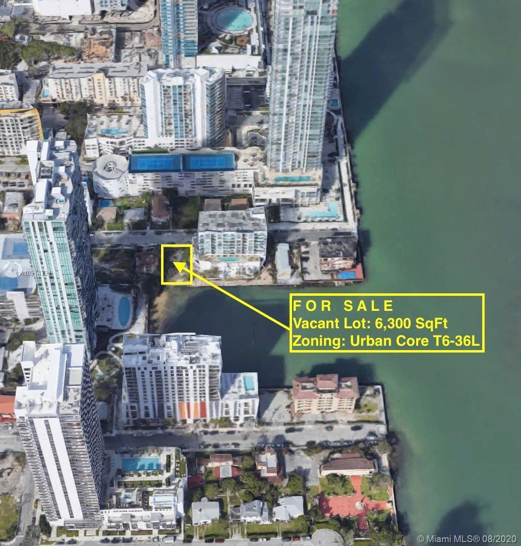 *PRIME WATERFRONT DEVELOPMENT OPPORTUNITY IN EDGEWATER / MIAMI* WATERFRONT VACANT LOT 6,300SqFt ON B