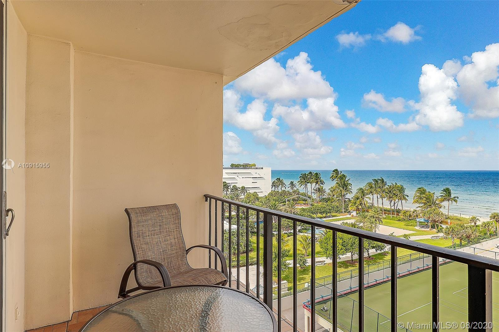 Direct Ocean views from every room in this large updated unit! Split bedroom floor plan with hurrica