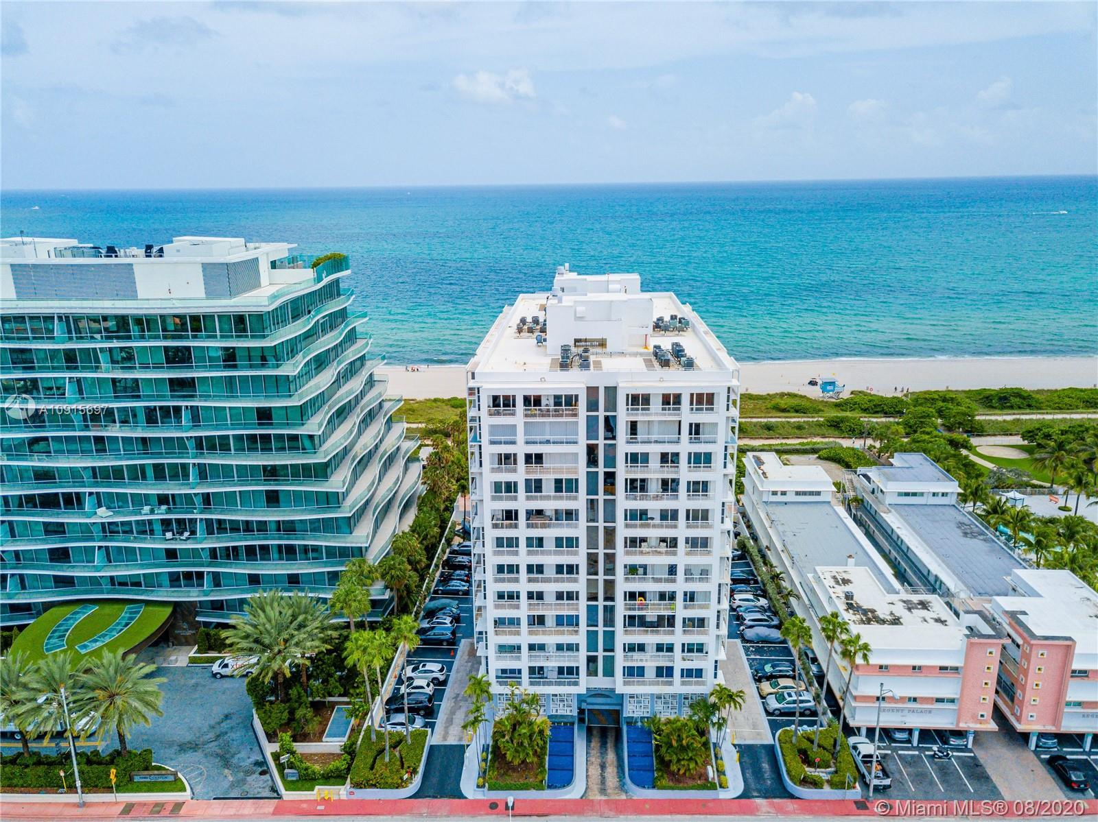 Price Improvement! This beachfront building is located in the beautiful Town of Surfside. Spacious o