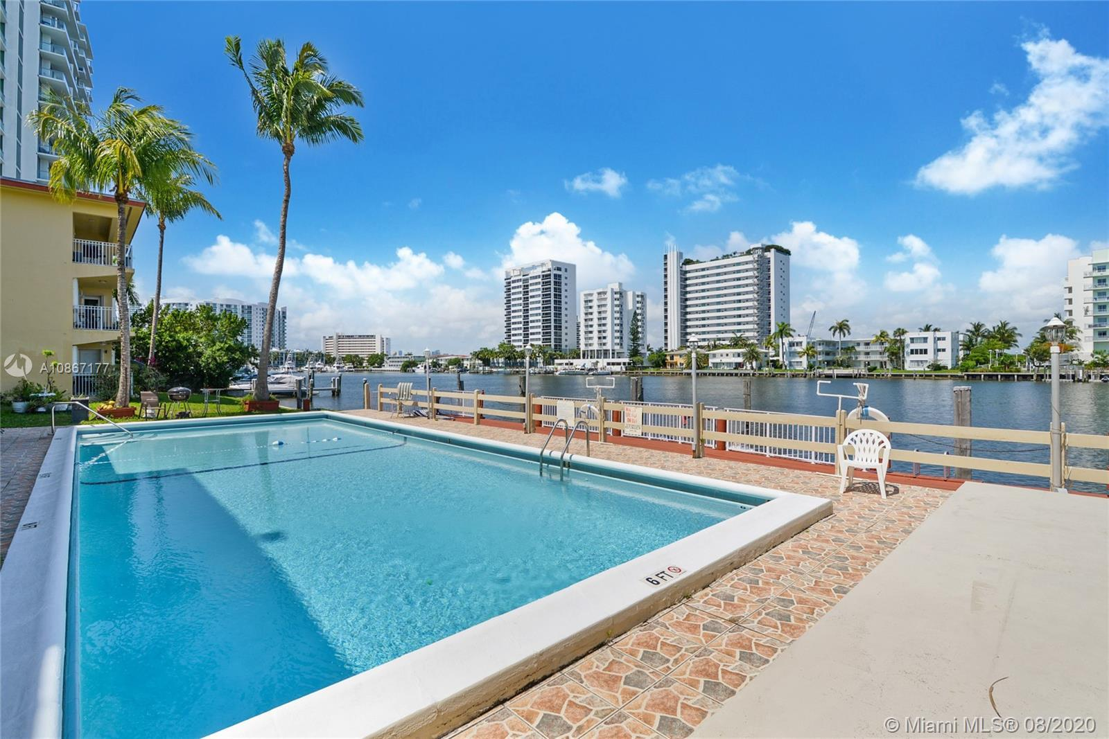Bayfront building with great water views! Renovated kitchen, tile floors, and ample closet space. Sp