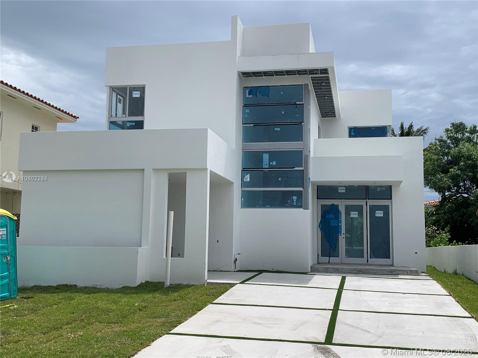 Brand New Construction Home in the highly sought-after location of Surfside. Contemporary Design wit