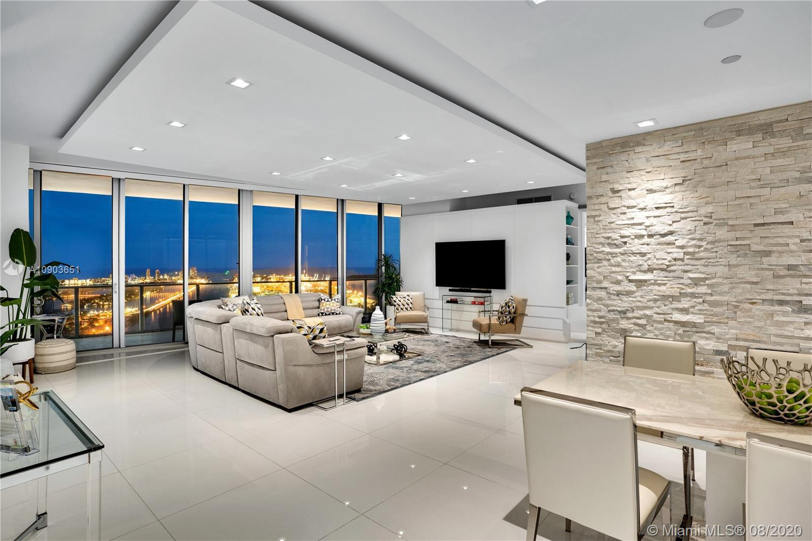 One of a kind combined unit at Marquis Residences .This designer finished 4 bds/4.5 ba 5603/5604 wit