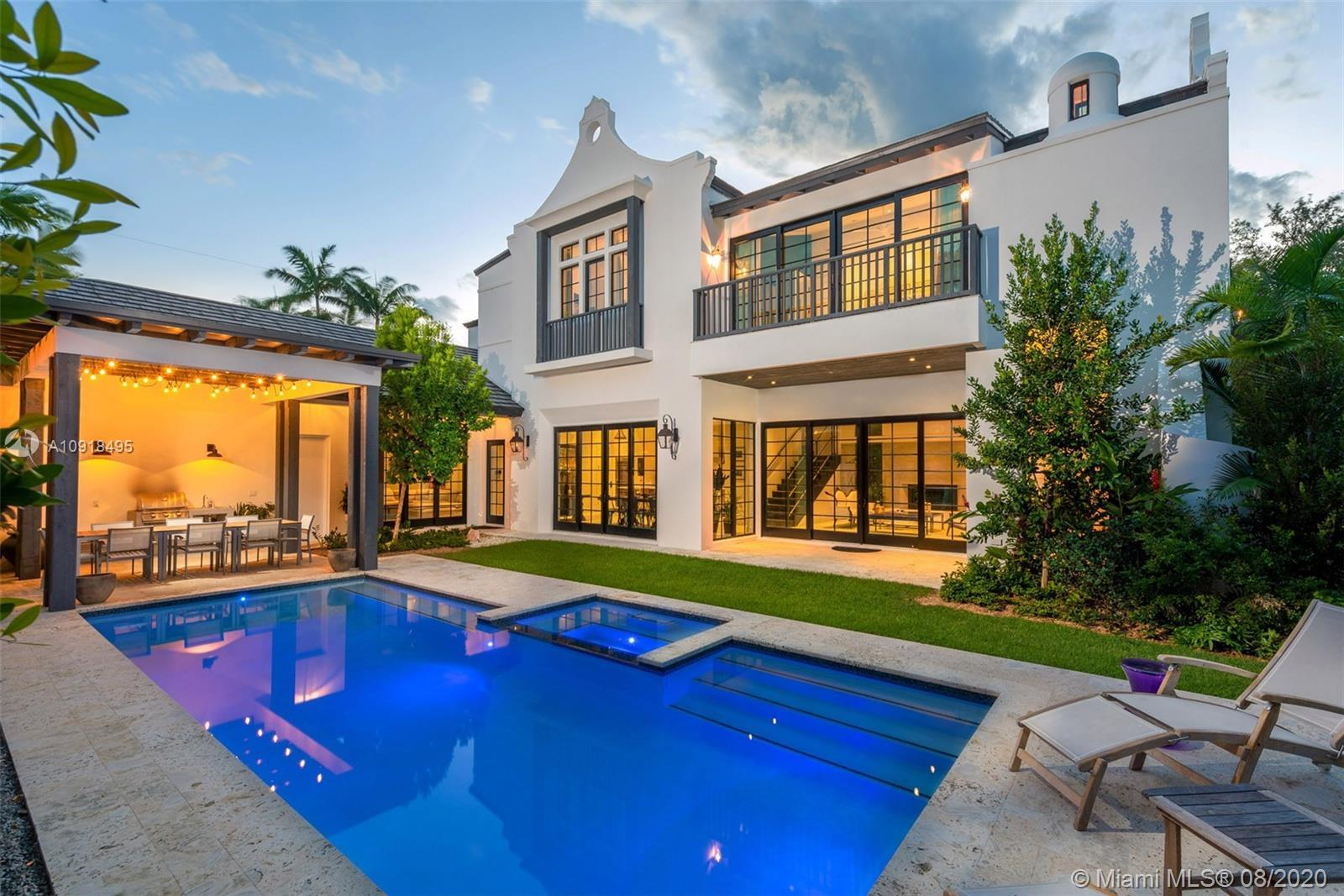 One-of-a-kind Bermudan/Cape Dutch style residence in gated Morningside! Built in 2016 & situated on