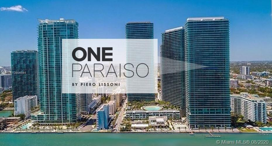 LIVE IN PARADISE THE BEST BUILDING AND LOCATION IN MIAMI ONE PARAISO 3 BEDS 3 BATHS 1/2 OCEAN FRONT