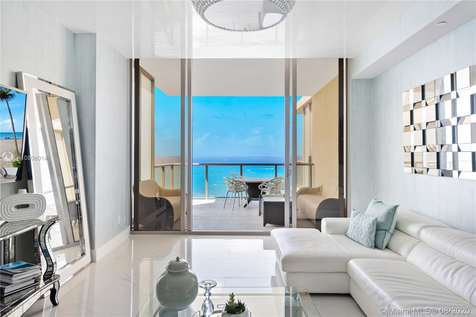 Endless direct ocean views from this spacious two bedroom residence at St. Regis Bal Harbour. Locate