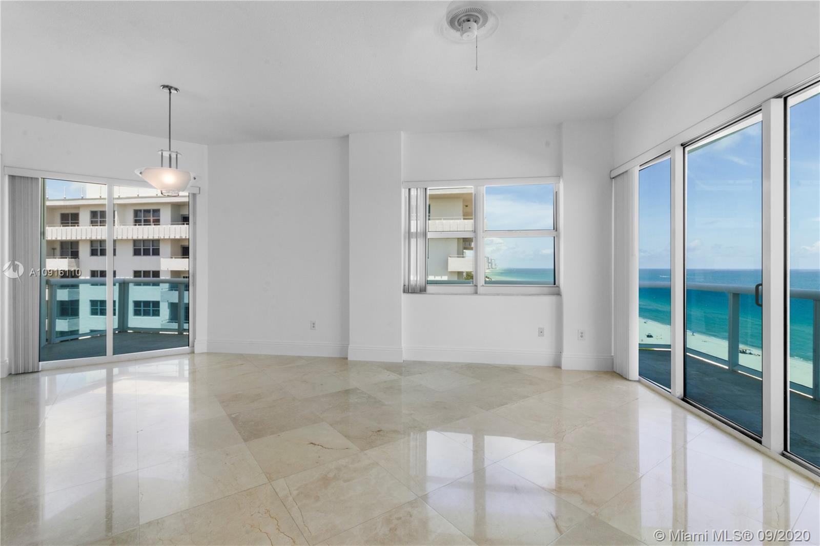 Extraordinary Penthouse oceanfront corner 3 bedrooms 2 bathroom condo. This apartment offers a large