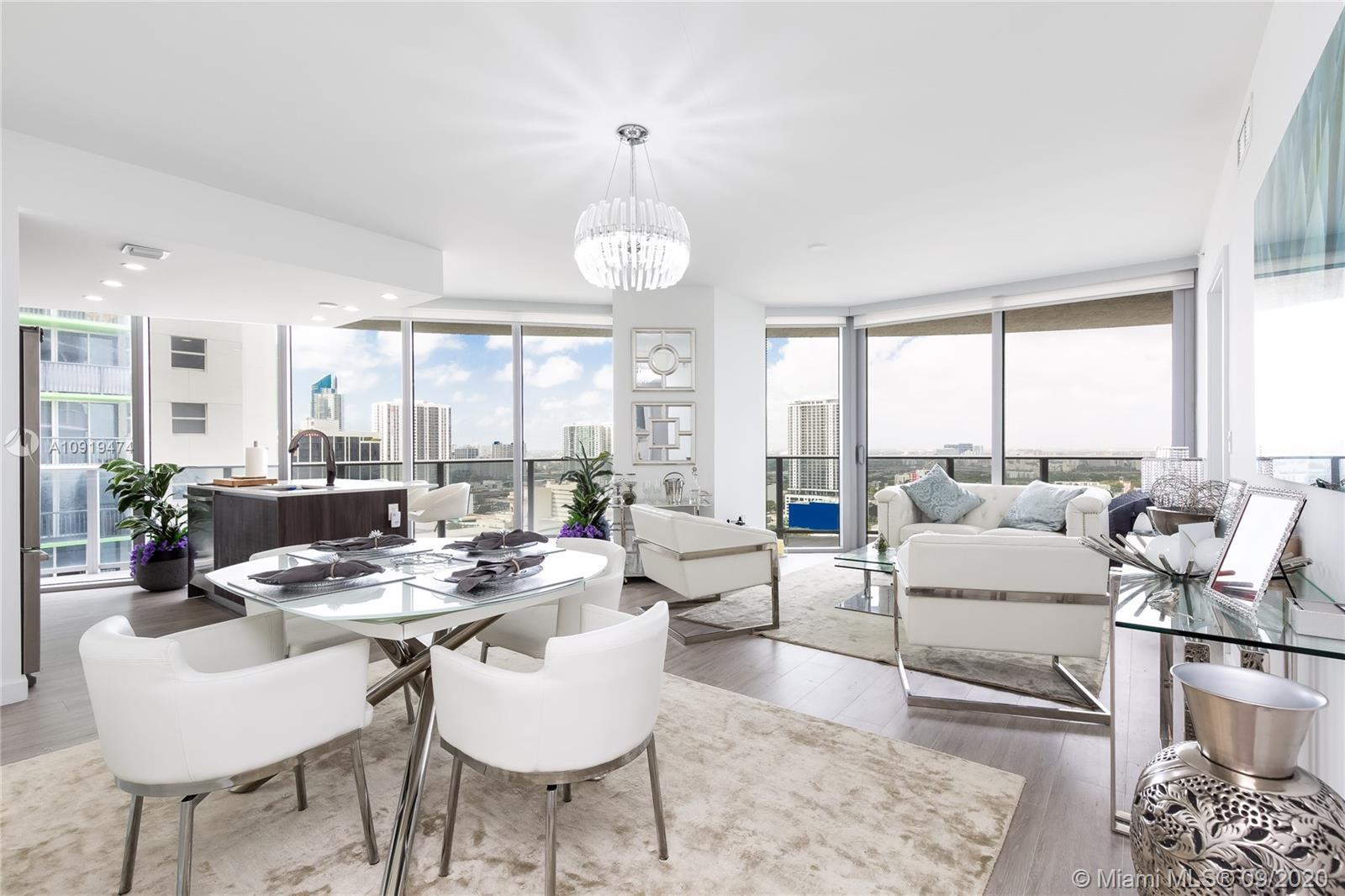 Contemporary & Bright fully furnished, move-in ready 2 bed/2.5 bath residence with 270-degree open v