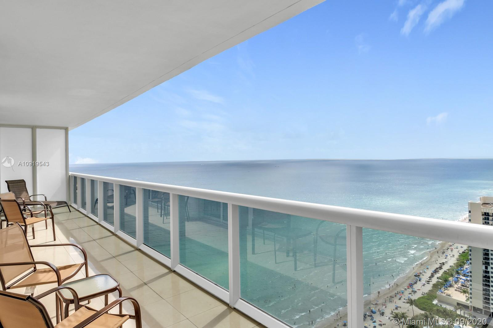 Beautiful furnished unit with spectacular ocean and Inter-coastal views, 3 bedroom/3 Baths, with Sou