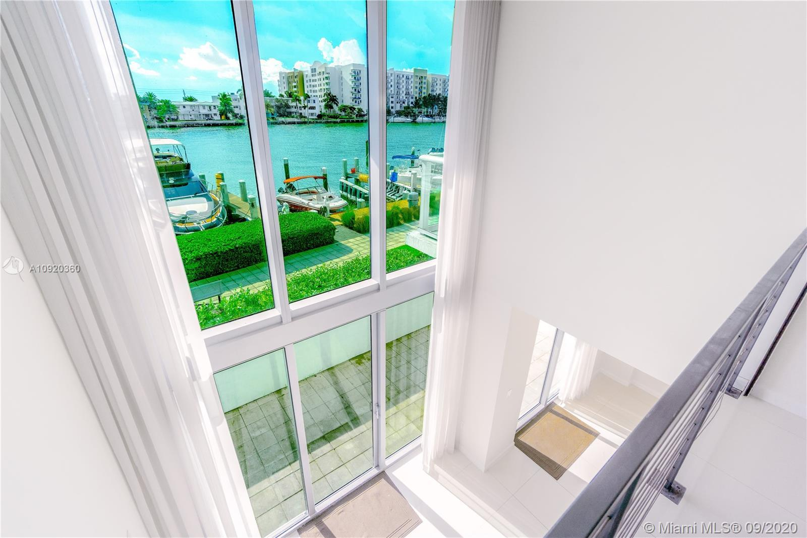 Two- Story unit with a large terrace overlooking the Intracoastal and the marina. Water view from ev