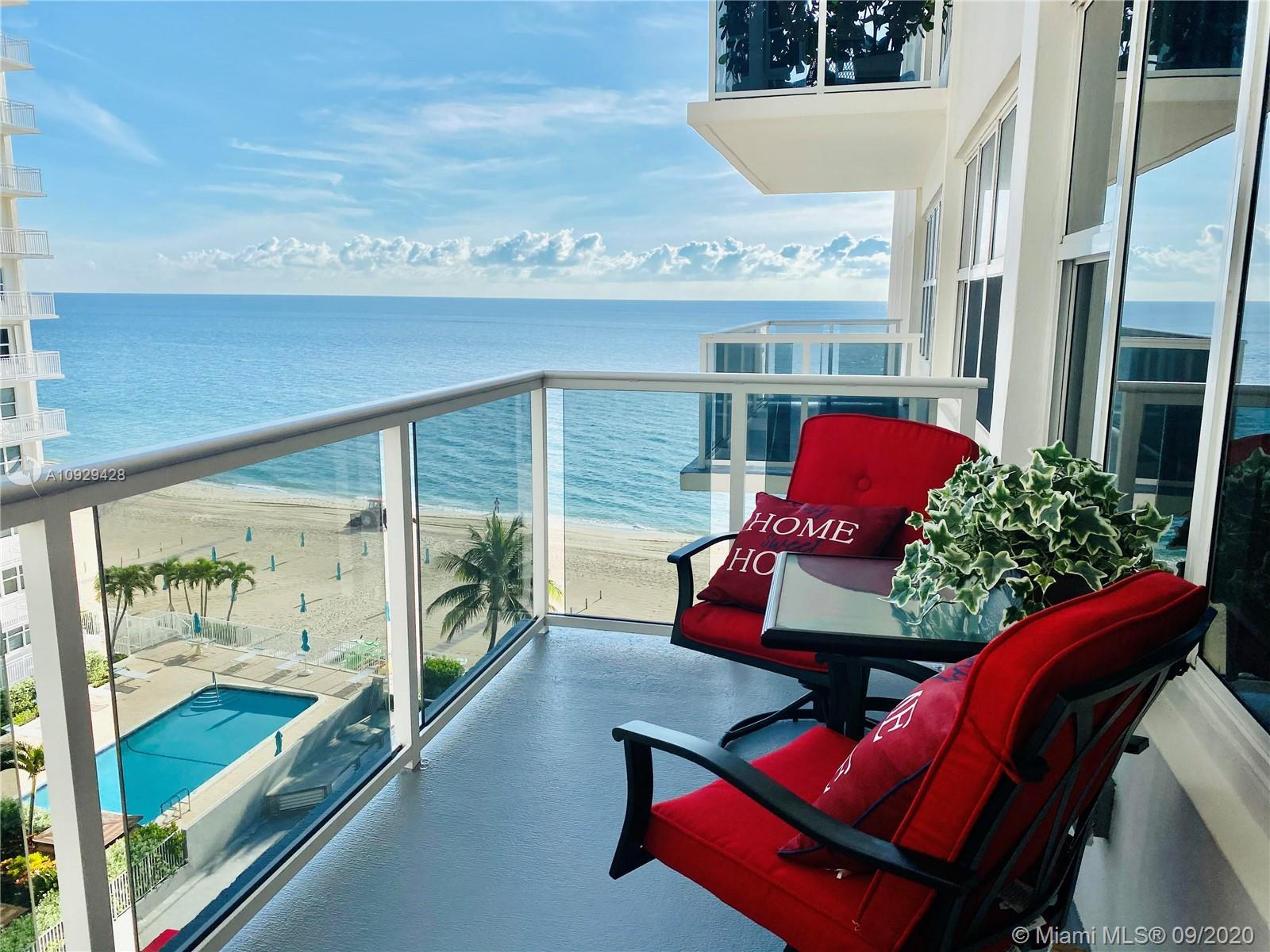 Beautiful direct ocean view in this newly renovated 1 bedroom 1 bath condo in Royal Ambassador. The