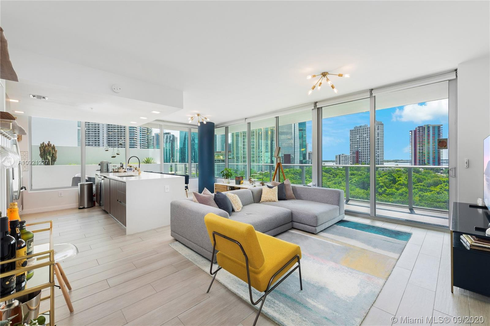 Spectacular 3 BD, 3.5 BA corner residence at Le Parc Brickell Condo, designed by world renowned arch