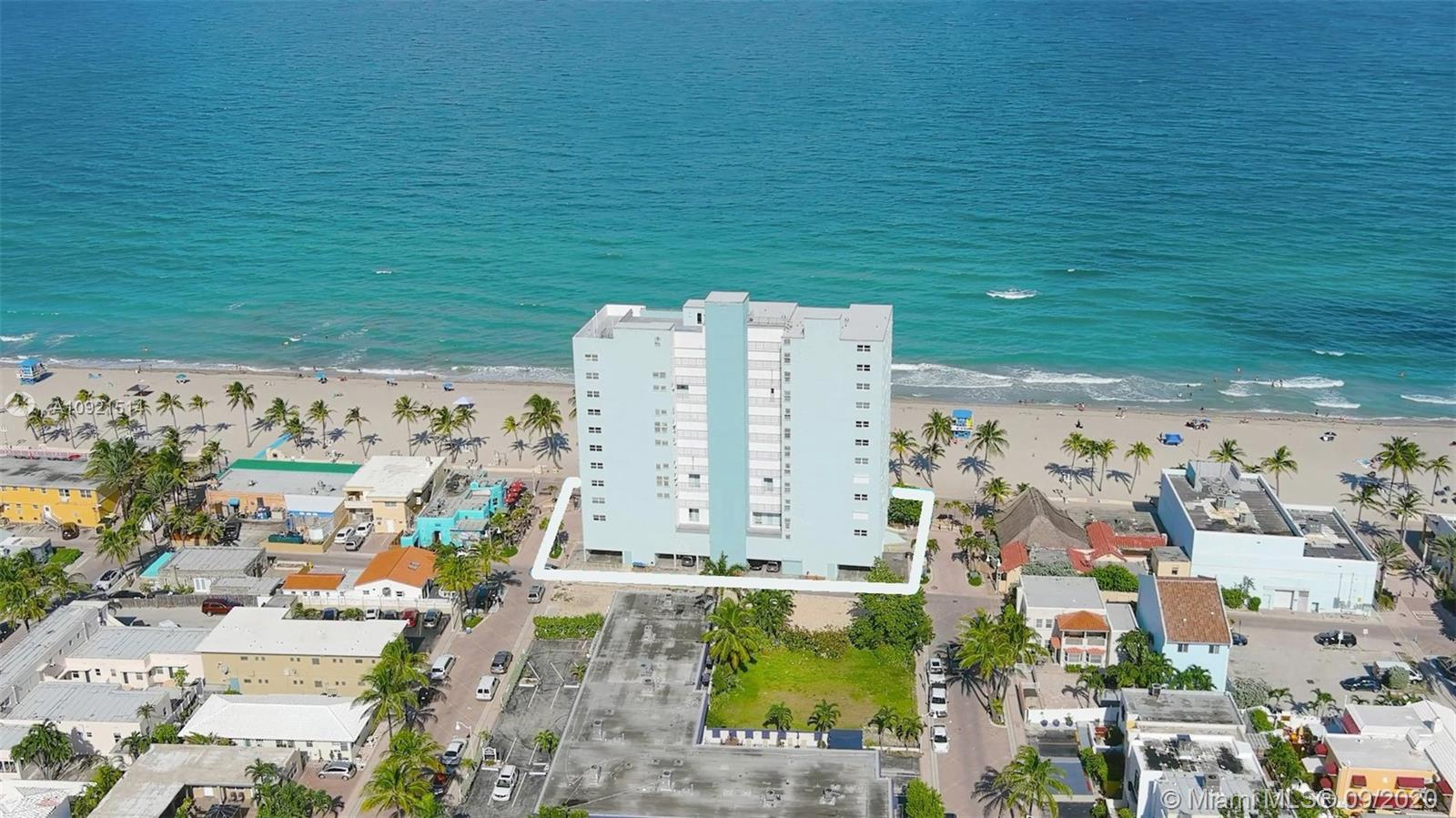 Walk out your front door and enjoy all the restaurants and beach access that Hollywood Beach has to