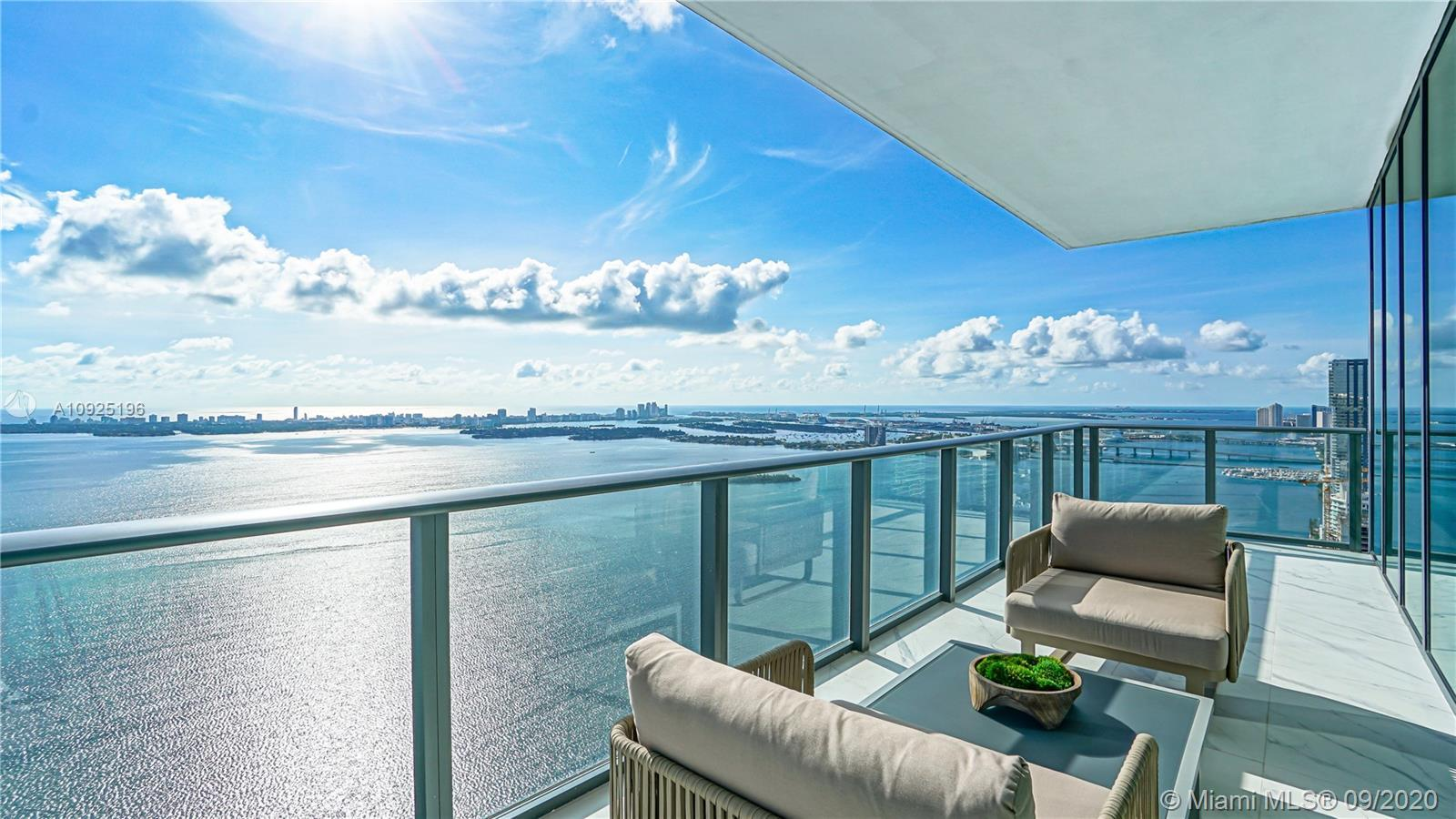 Luxury has been re-imagined in this direct bay front sky Penthouse fully turnkey & finely equipped b