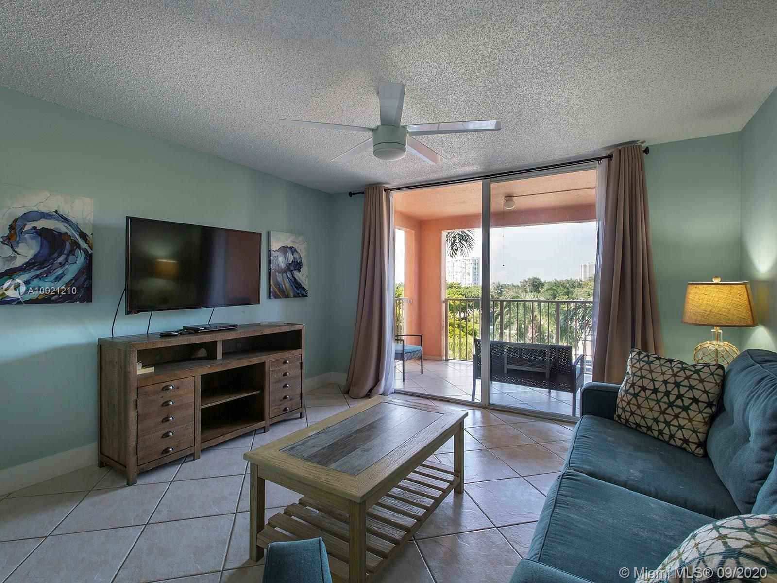 This 2/2 fully furnished turnkey apt offers a split floor plan with 2 master suites, a remodeled kit