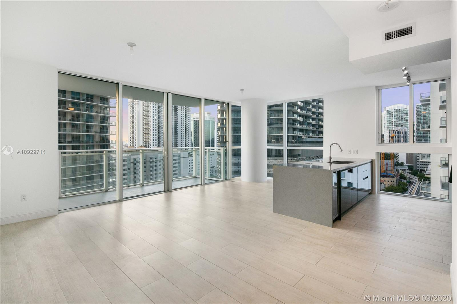 For Sale at The Bond in Brickell. 2BR/2BA corner unit at The Bond in Brickell. The condo features a