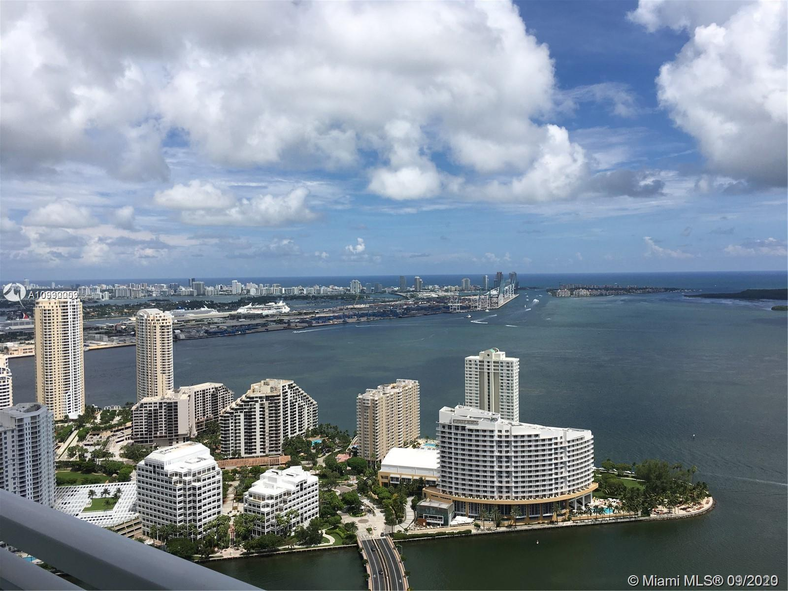 Wow! Amazing and unobstructed views to the bay, ocean, and beyond from this corner SE PH corner apar