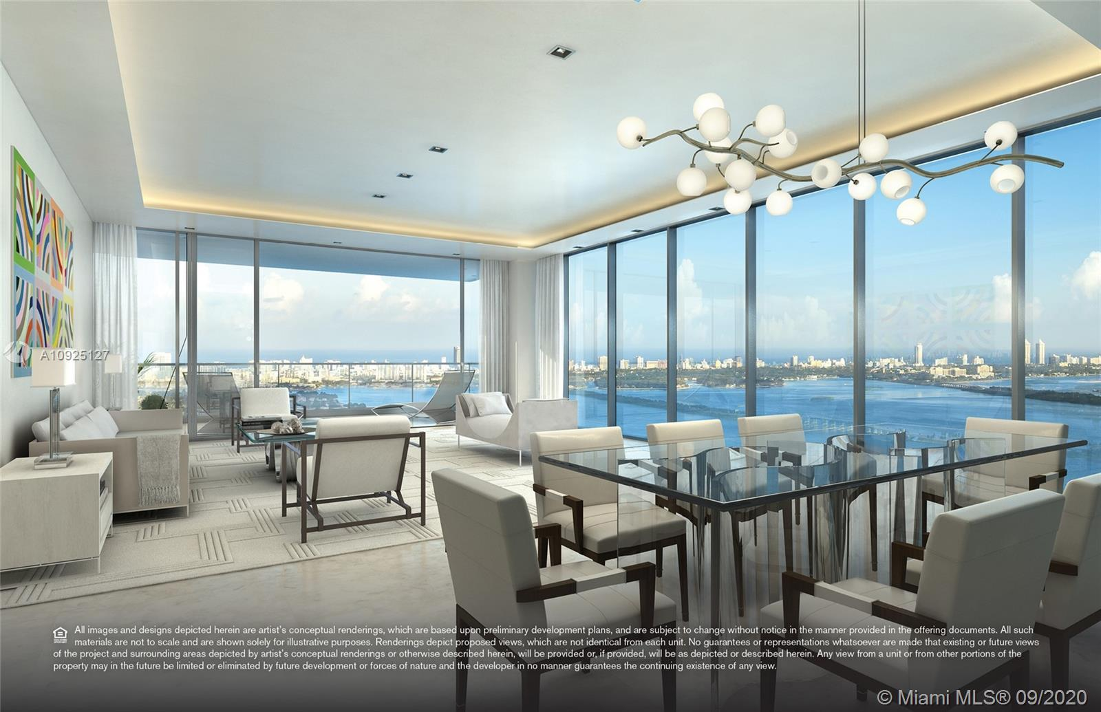 Stunning 3B, study, 4.5b unit at Elysee, the first luxury boutique building in Edgewater. Living roo