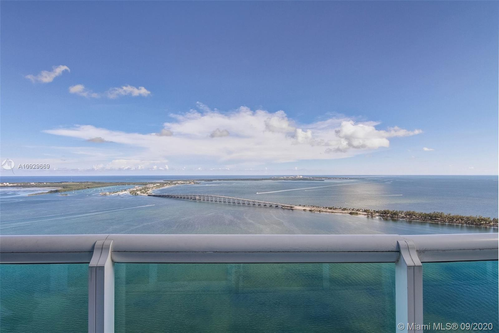 Spectacular oceanfront east-west flow-through condo at Santa Maria, stunning views of Biscayne Bay a