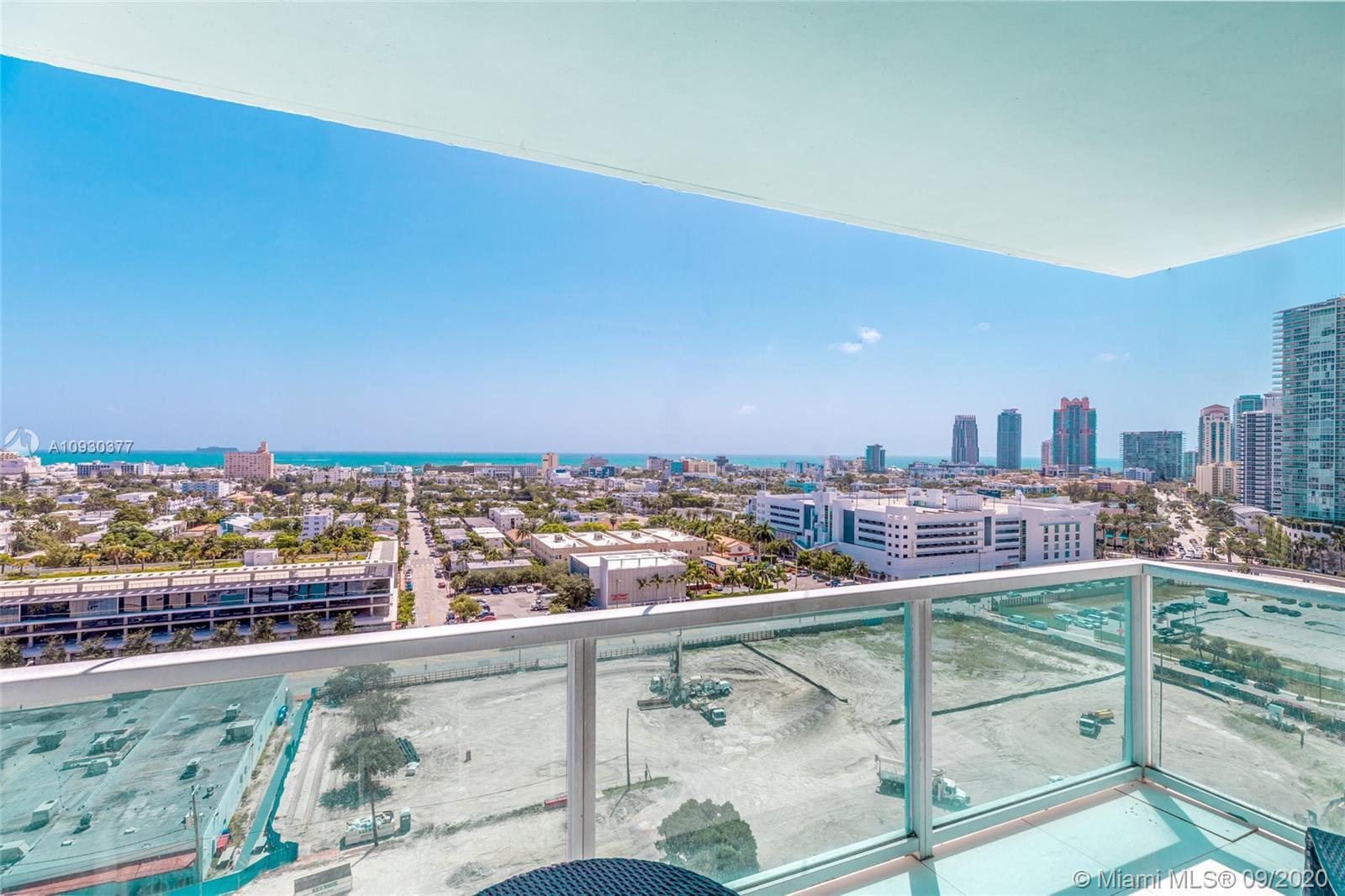 Enjoy breathtaking views of the ocean, sunrise and all of South Beach in this remodeled 2 bed/2 bath