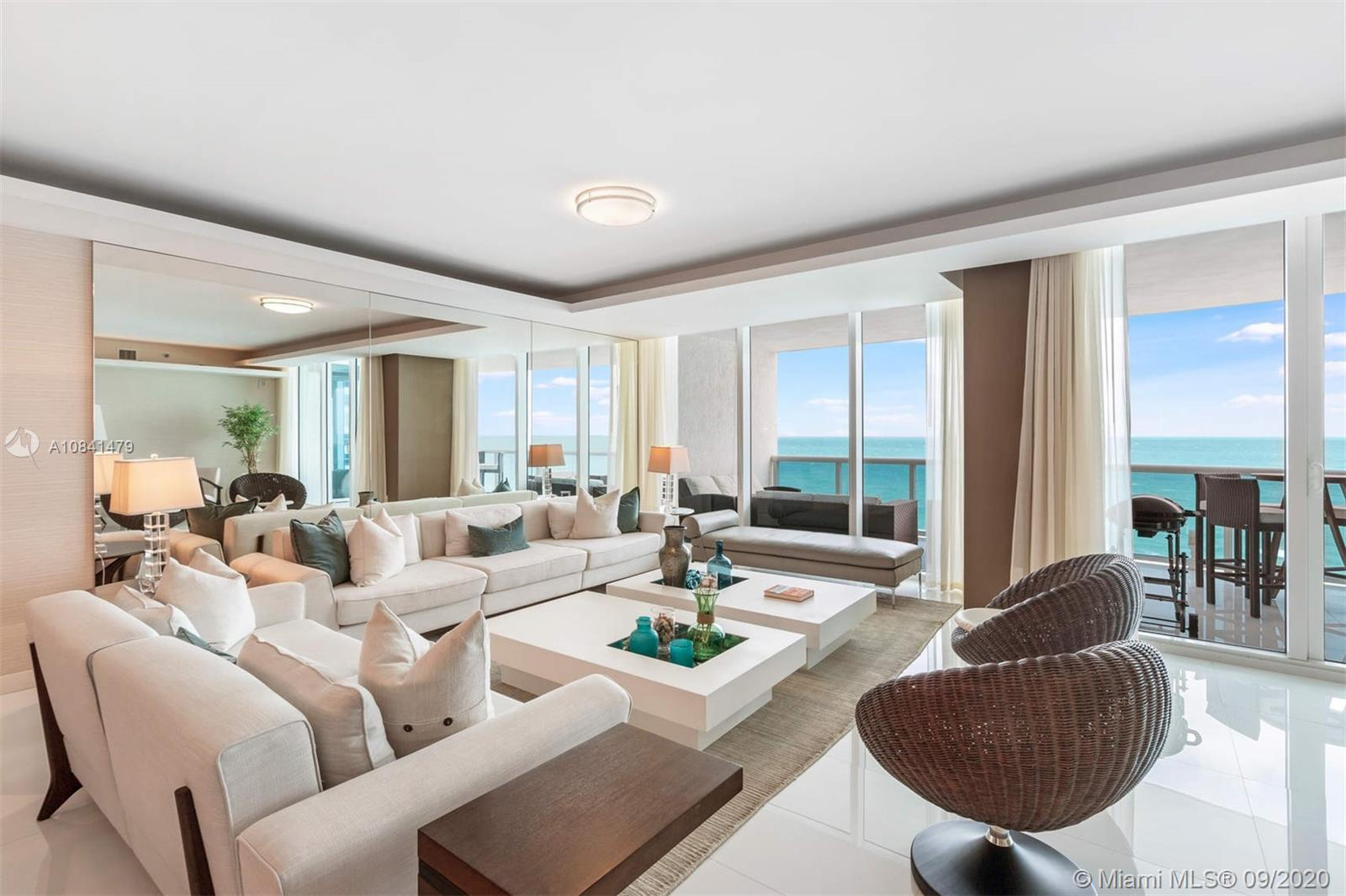 Amazing opportunity to acquire a turnkey residence at prestigious Trump Hollywood, an ocean front co