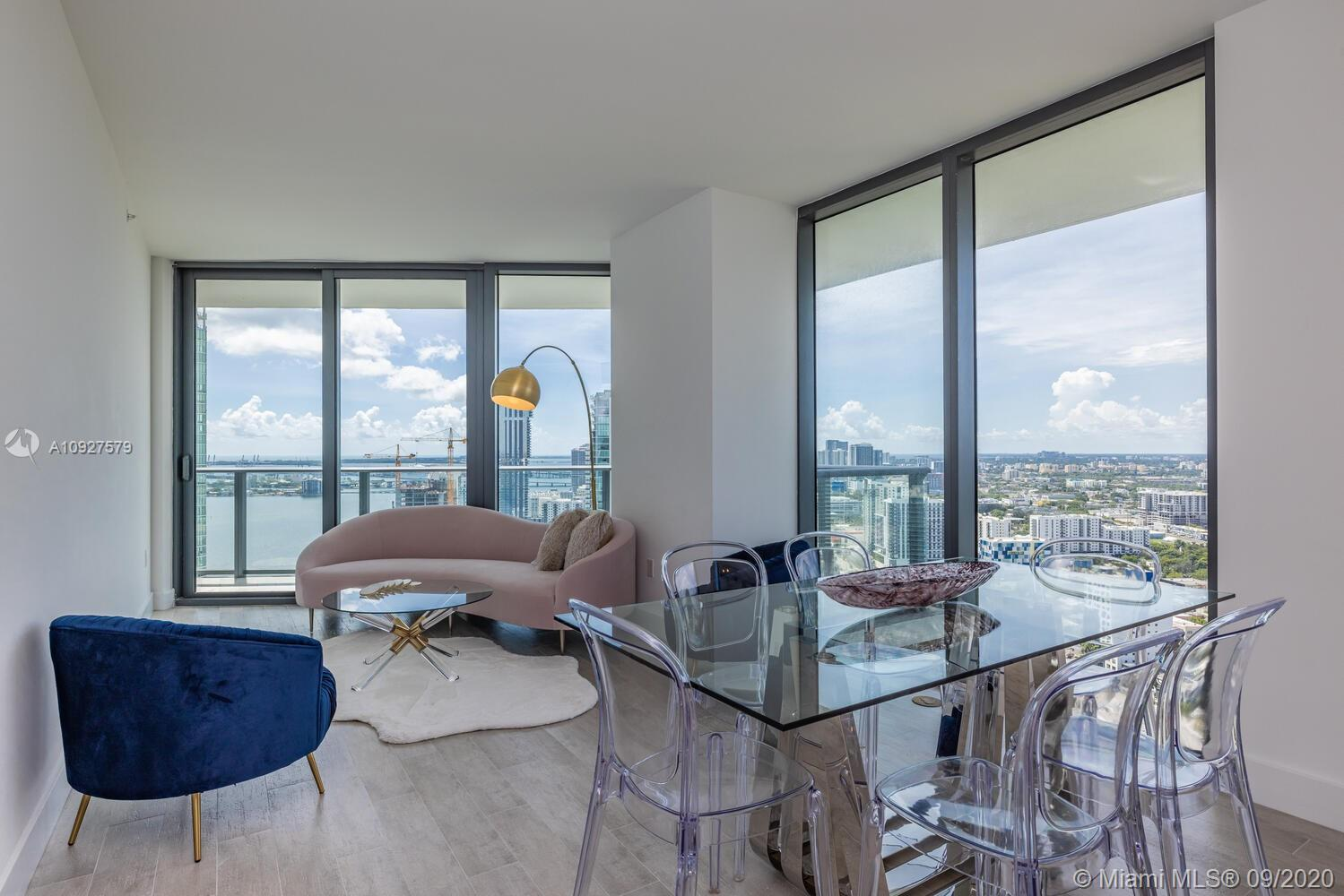 Stunning views from this beautiful high floor corner unit, 2 Bedroom/ 2 bathroom with Den, 2 large b