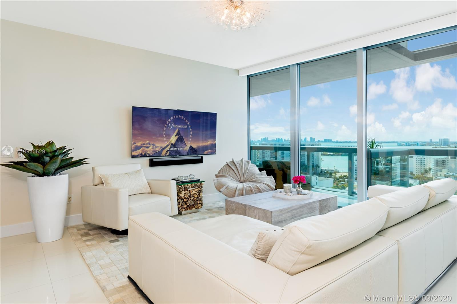 STUNNING BAY, SUNSET, and CITY SKYLINE views from high floor in prestigious North Tower, Carillon Mi