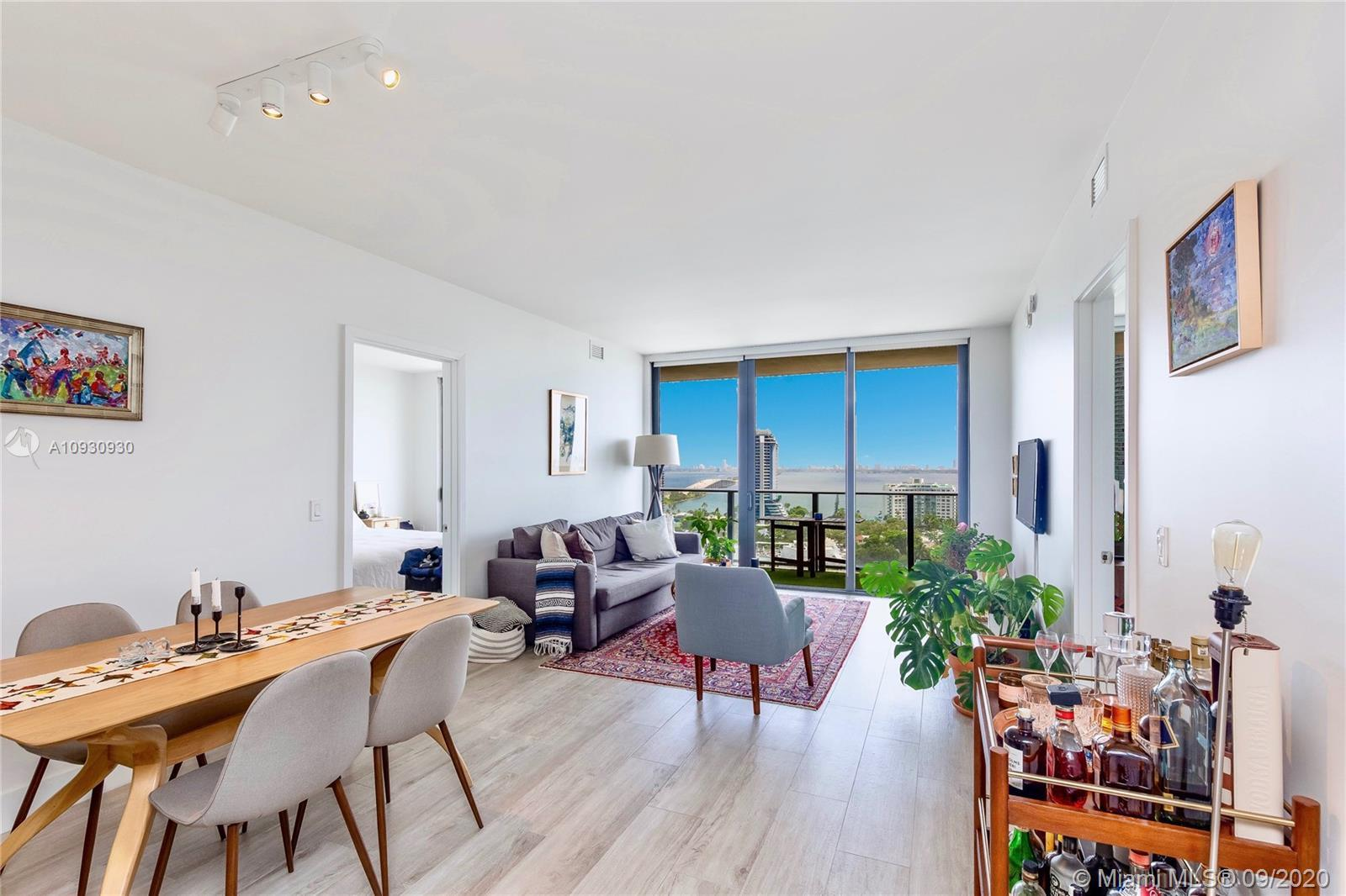 Stunning views of Biscayne Bay and Miami Beach. Located in the heart of Midtown, steps away from the